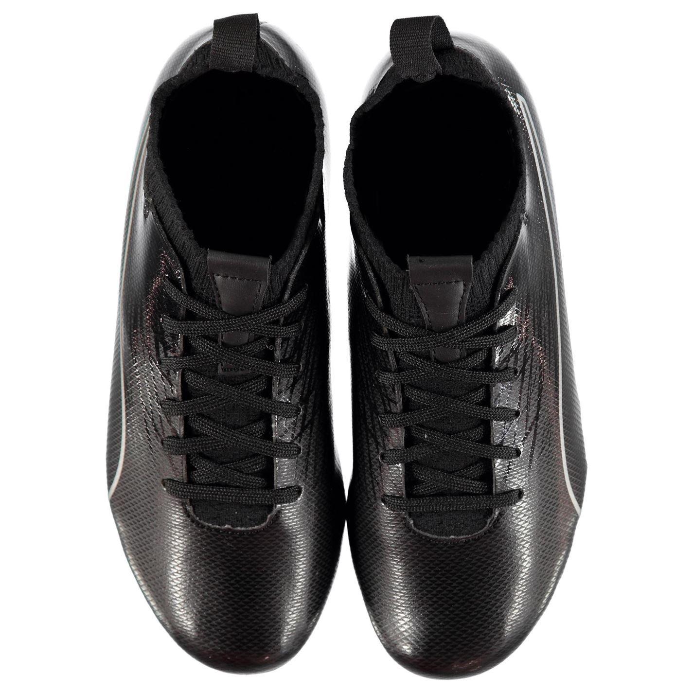 Détails sur Puma Evoknit Sg Chaussures Foot Terrain Souple Noir Enfants Football Cale