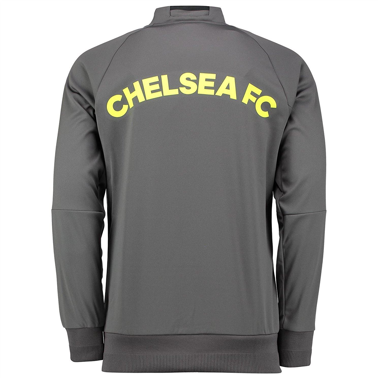 Adidas Chelsea Anthem Veste Homme gris Football Soccer Track Top Survêtement | eBay