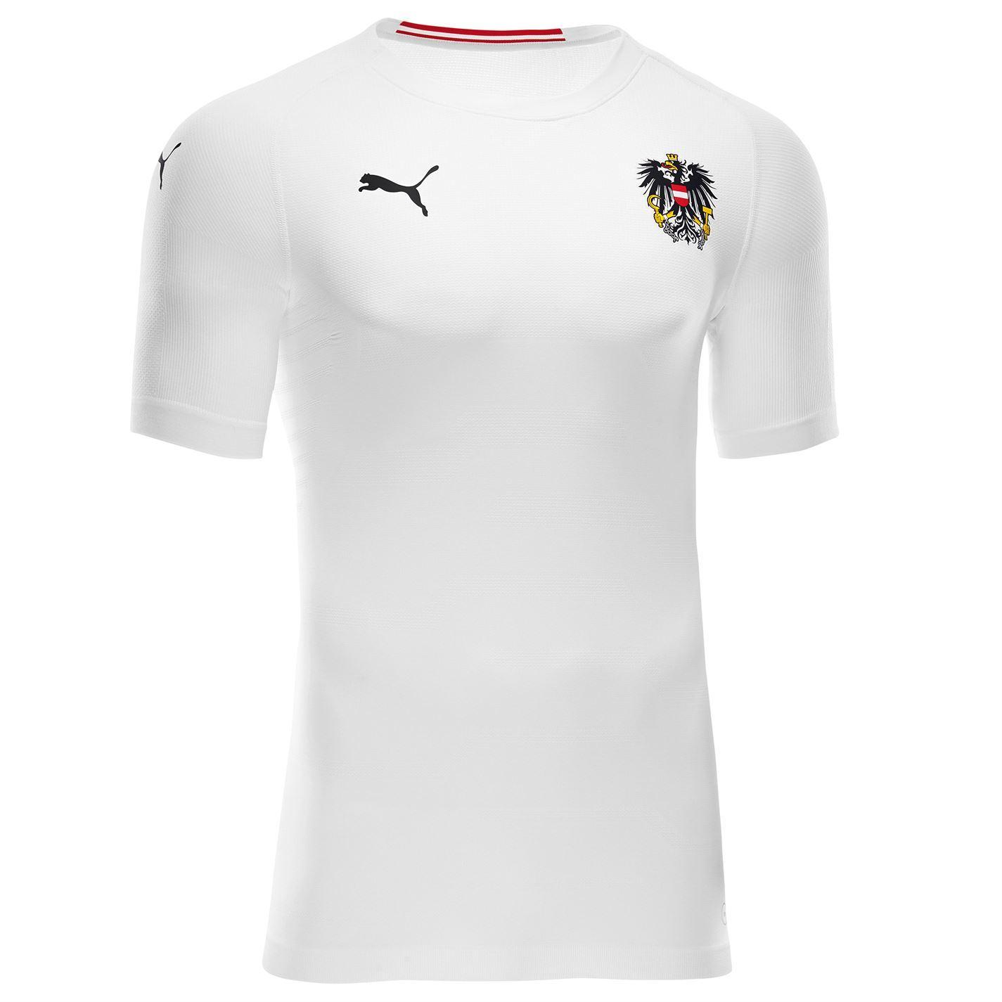 0a153b12d ... Puma Austria Away Jersey 2018 Mens White Football Soccer Fan Shirt Top  ...