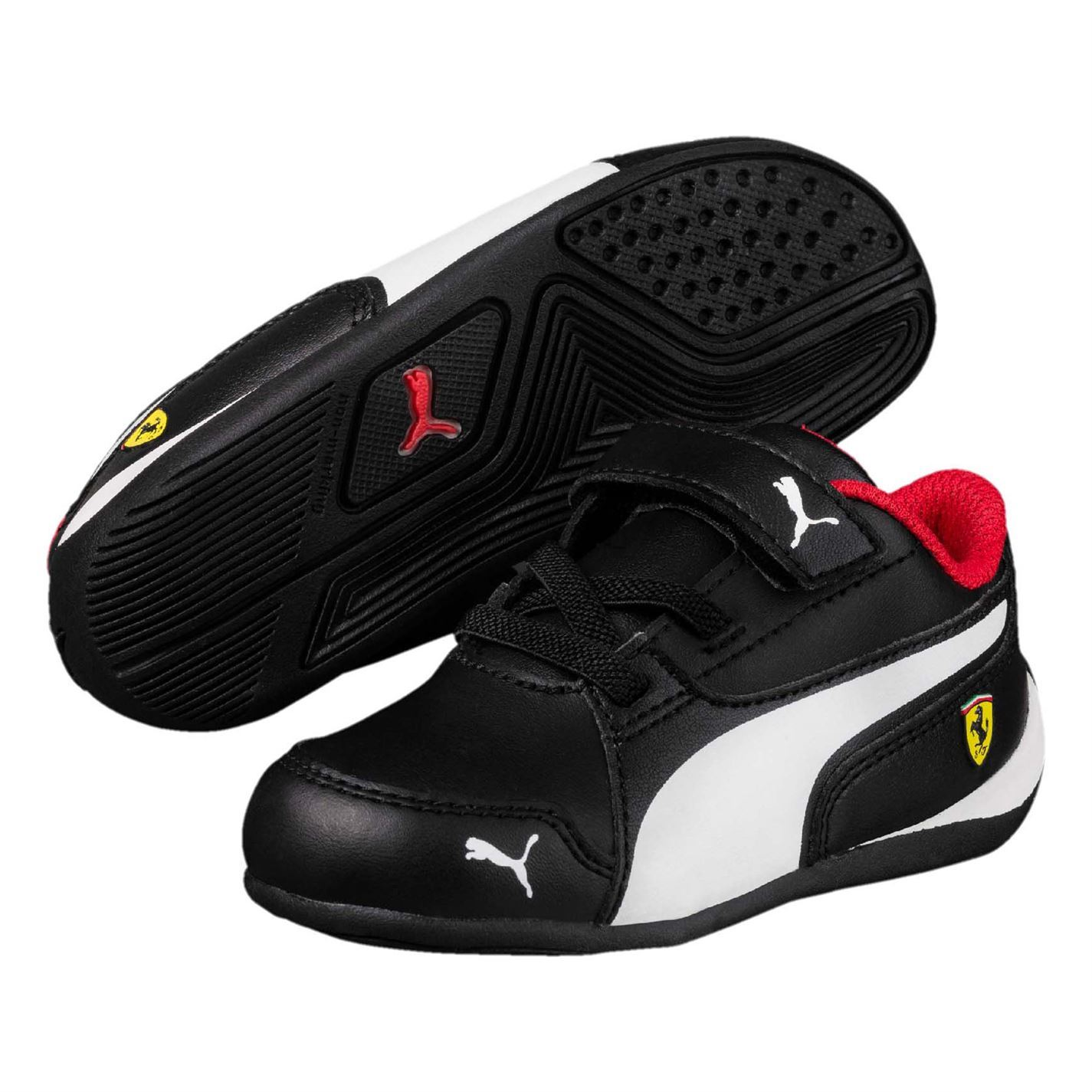 76ca0a3b8040 ... Puma SF Drift Cat 7 Shoes Boys Black White Trainers Footwear ...