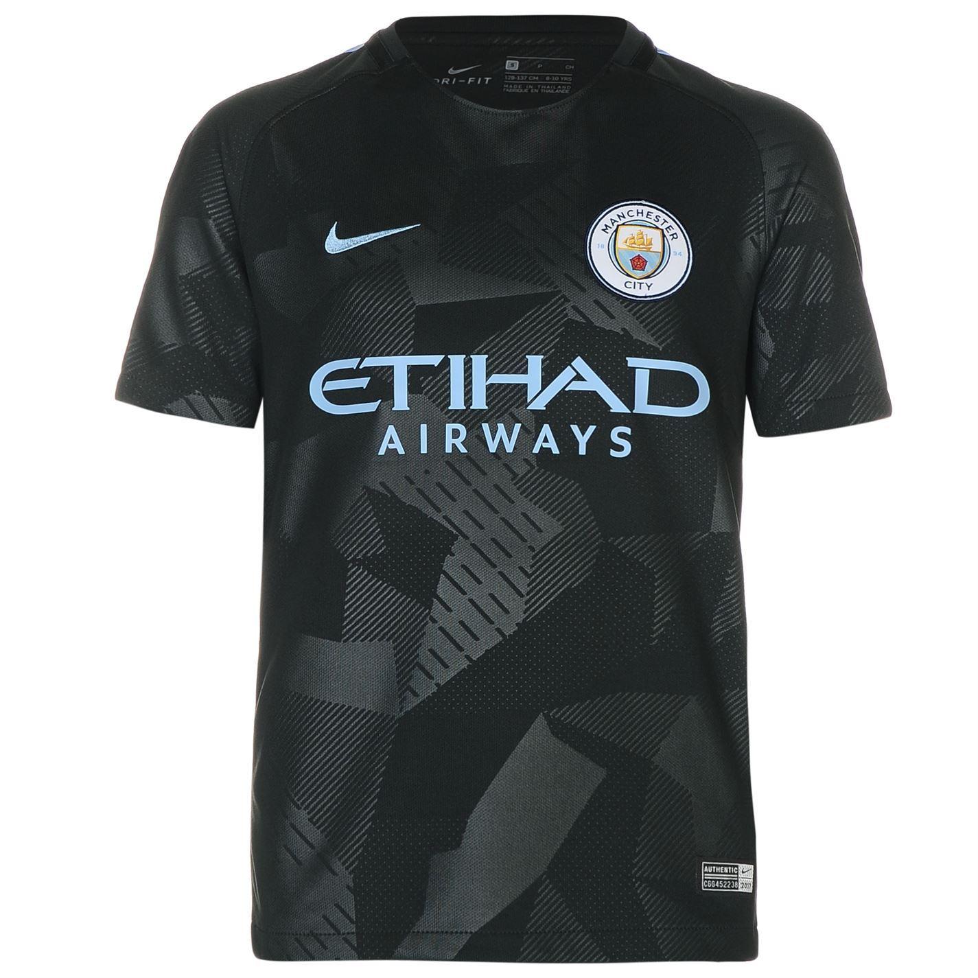 4a6e2b9ab ... Nike Manchester City Third Jersey 2017 2018 Juniors Green Football  Soccer Shirt ...