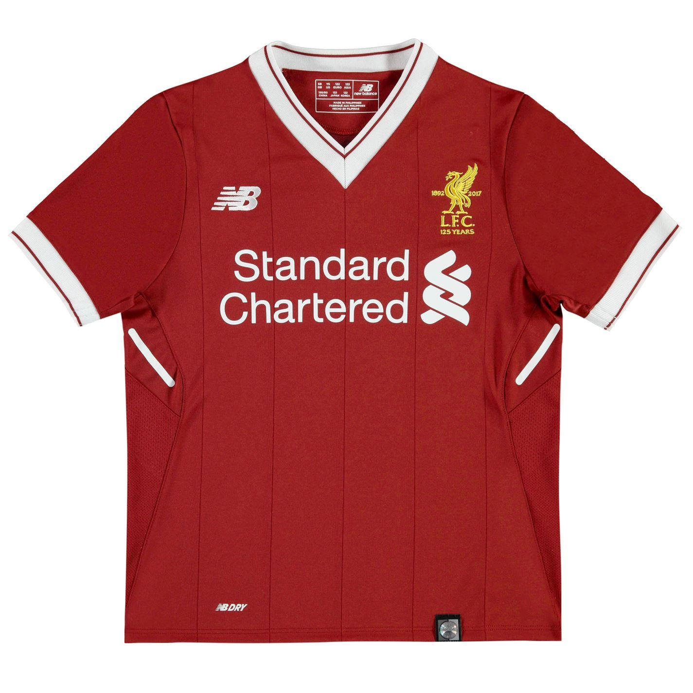 278f149f1bc ... New Balance Liverpool Home Jersey 2017 2018 Juniors Red Football Soccer  Shirt ...