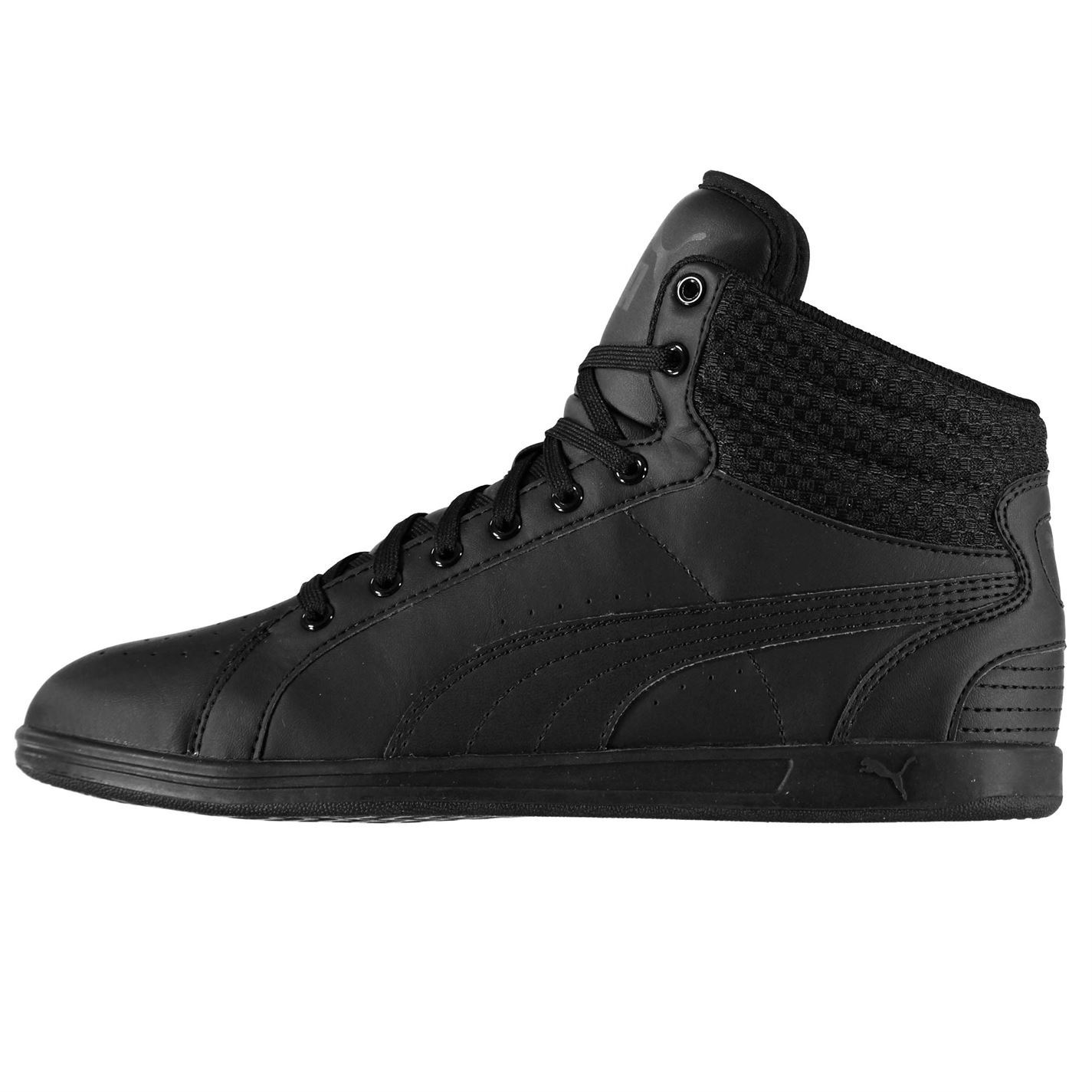 Details about Puma Ikaz Mid Top Trainers Womens Black Sports Trainers Sneakers