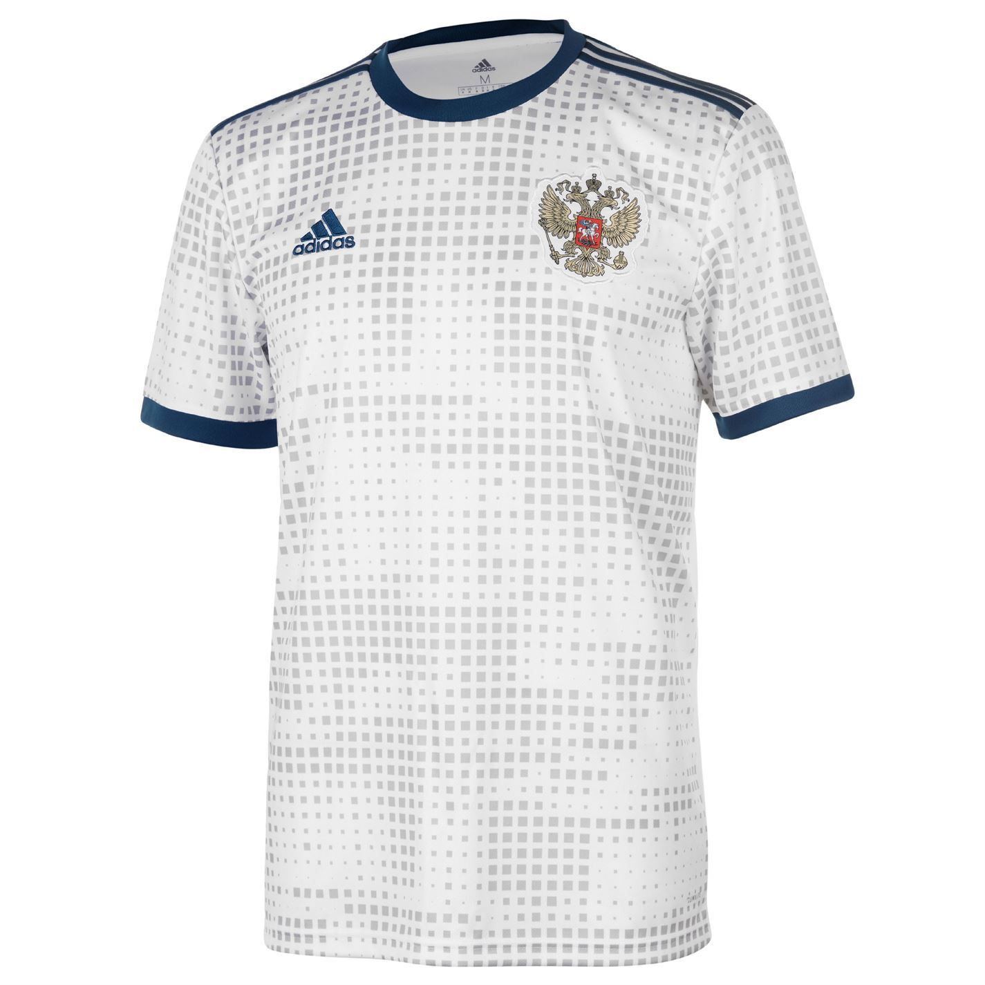 d837aedcf5ee6 ... Adidas Rusia lejos Jersey 2018 Mens blanco fútbol fútbol Top camisa  tira ...