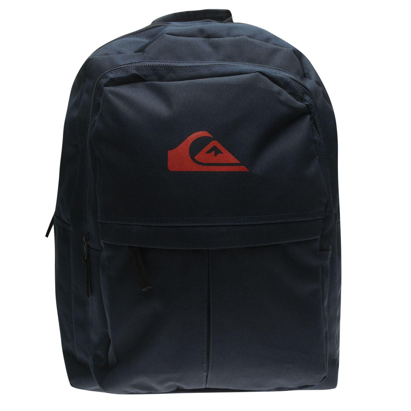 0b6b006f29 Quiksilver Plain Backpack Navy Rucksack Sports Bag Gymbag Kitbag