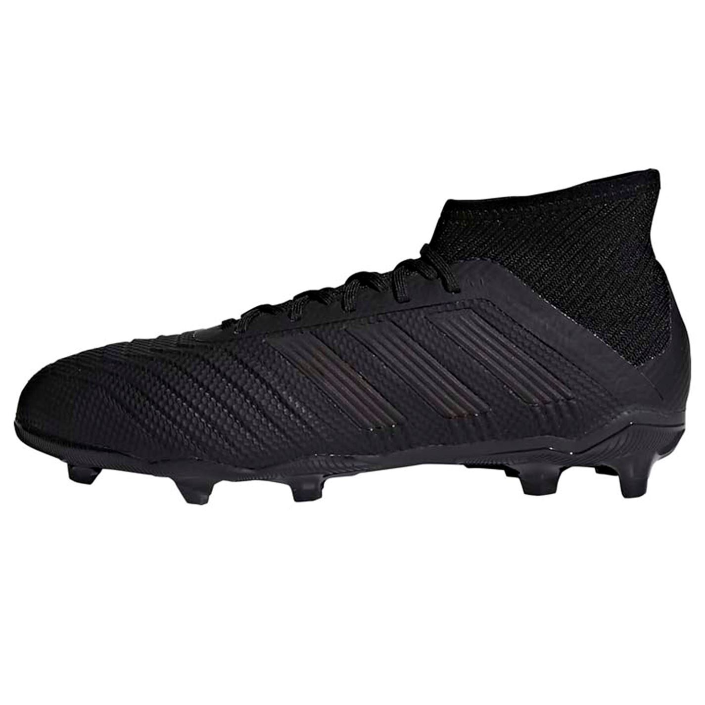 84f893f2e098 ... adidas Predator 18.1 FG Firm Ground Football Boots Juniors Black Soccer  Cleats ...