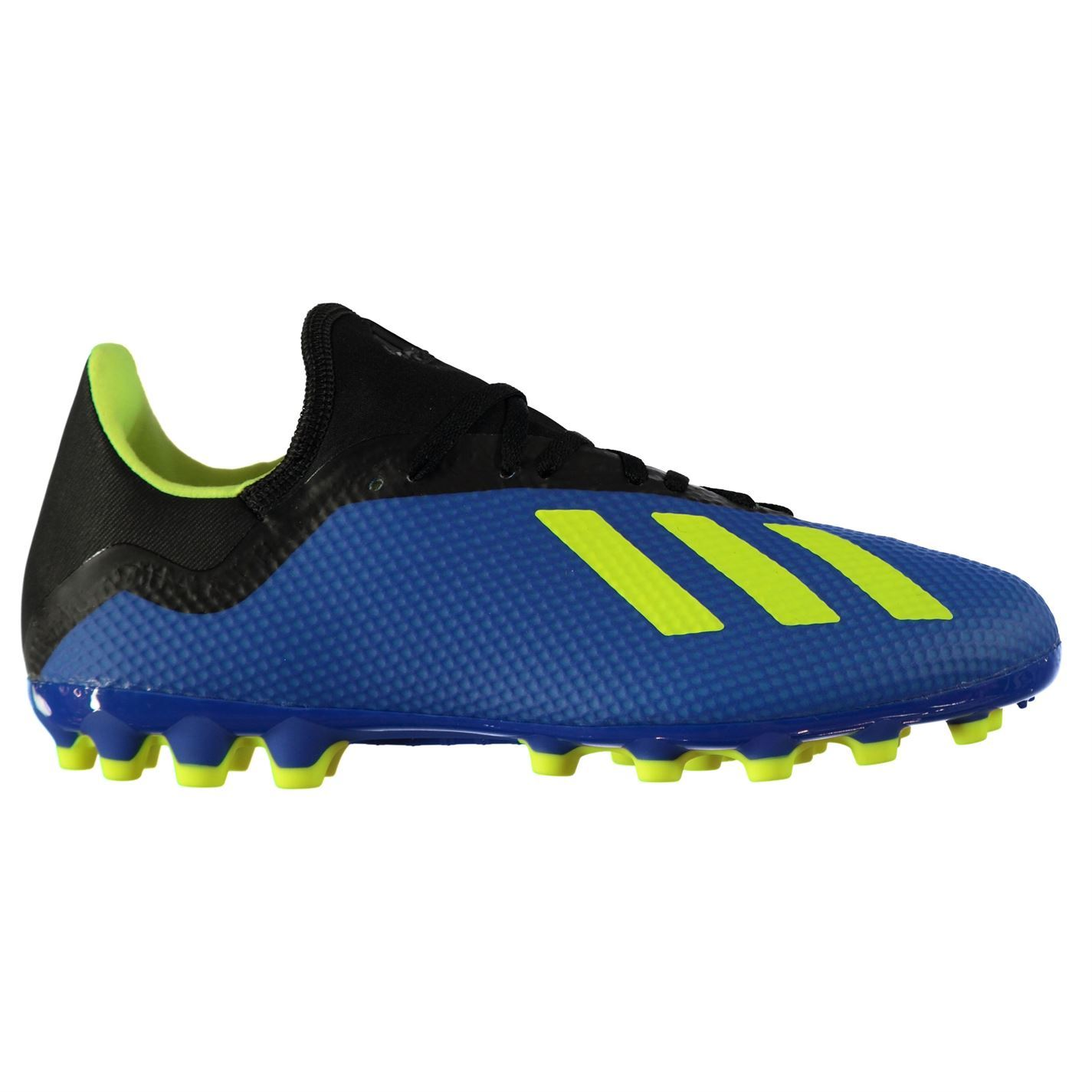 67808eeac6bf ... adidas X 18.3 Artificial Ground Football Boots Mens Blue Soccer Shoes  Cleats ...