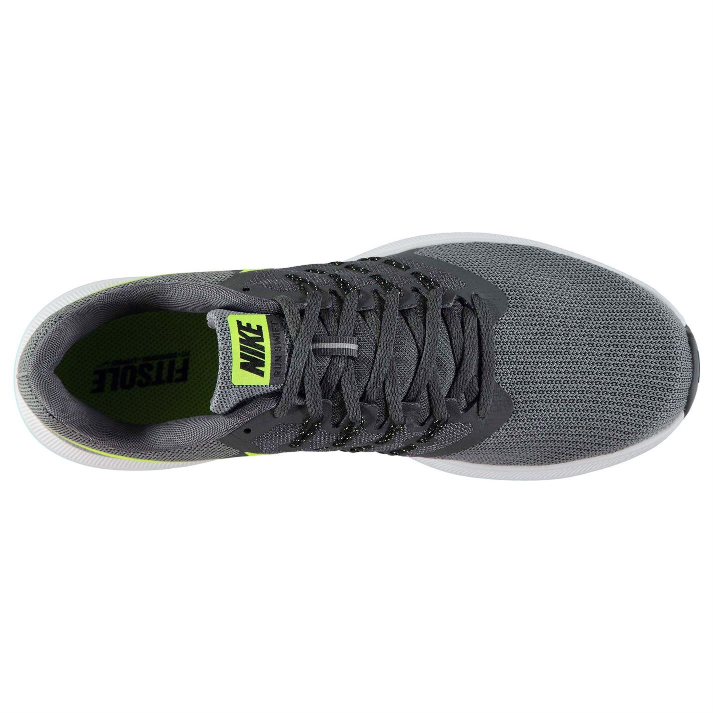 e6cbe31b6fb93 Nike Run Swift Running Shoes Mens Grey Volt Jogging Trainers Sneakers