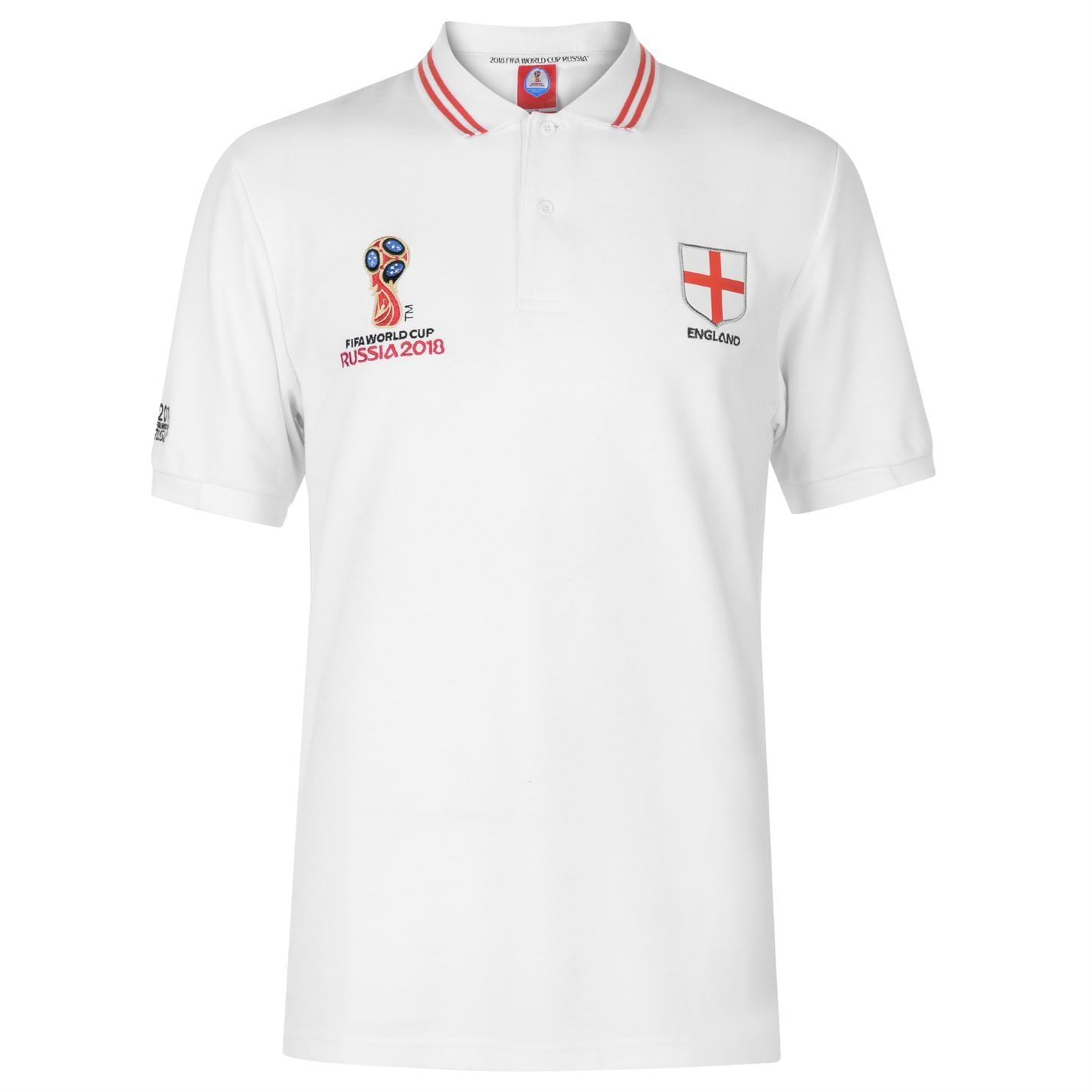 miniature 14 - FIFA Coupe du monde 2018 Angleterre Polo Shirt Homme Football Soccer Top T-Shirt Tee