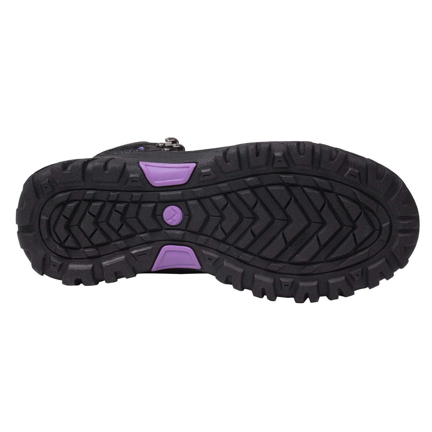 Détails sur Gelert Cuir Bottes Marche Femmes Noir Randonnée Trekking Chaussures