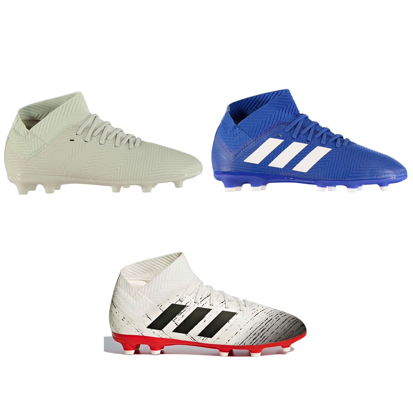 Details about adidas Nemeziz 18.3 FG Firm Ground Football Boots Childs Soccer Shoes Cleats