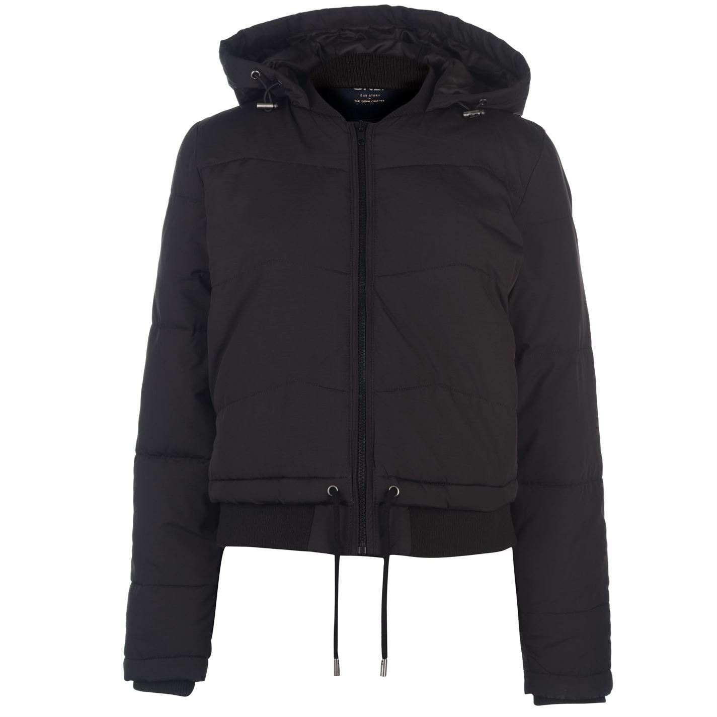 ec80d6252 Details about Only Aida Short Puffer Jacket Womens Black Coats Outerwear