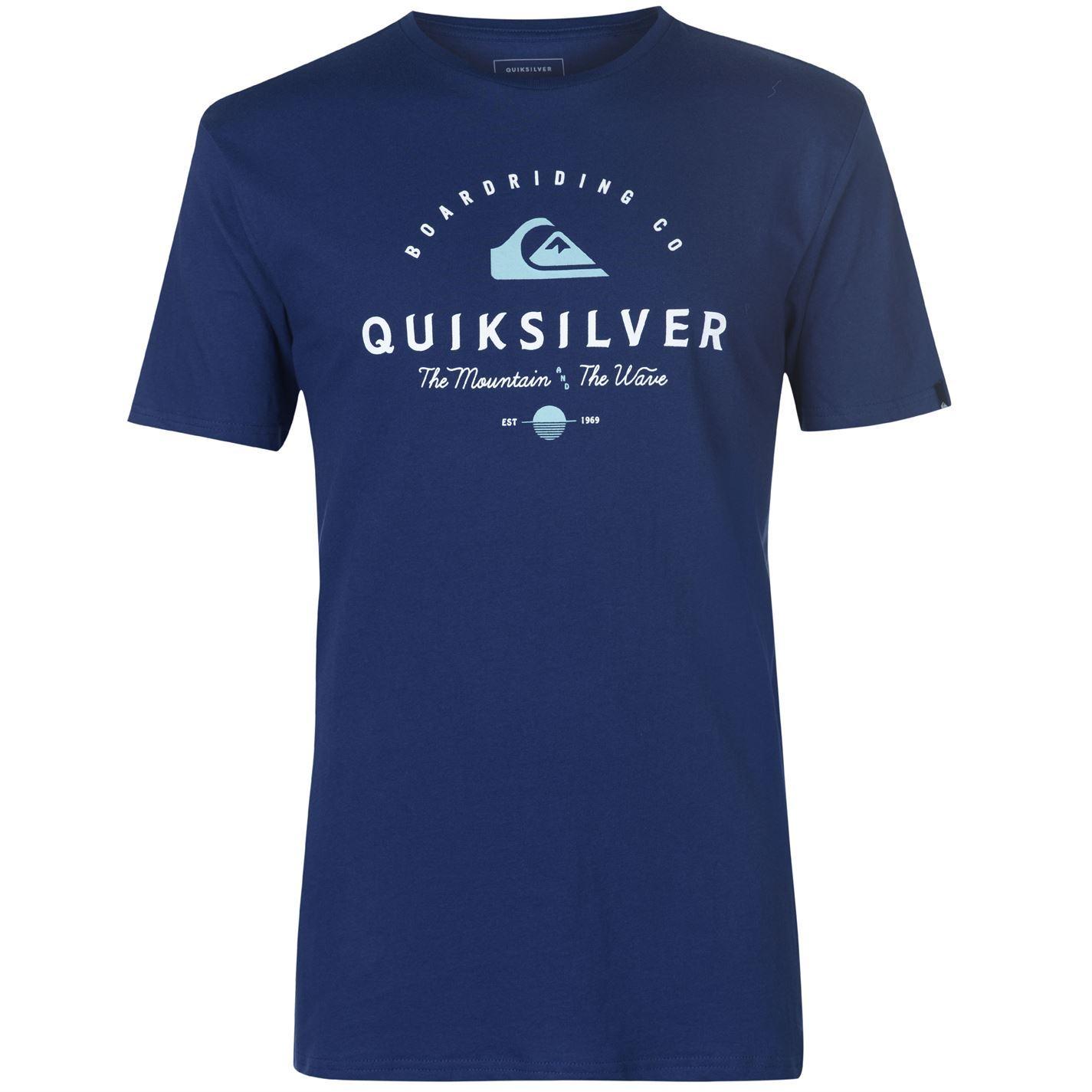 Quiksilver-Working-Man-T-Shirt-Mens-Tee-Shirt-Top thumbnail 3