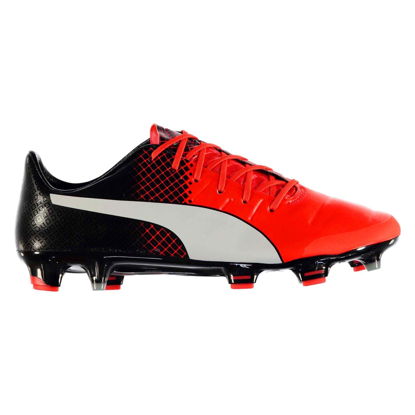 efe9975645bb ... Puma EvoPower 1.3 FG Firm Ground Football Boots Mens Rd Blk Soccer  Cleats Shoes ...