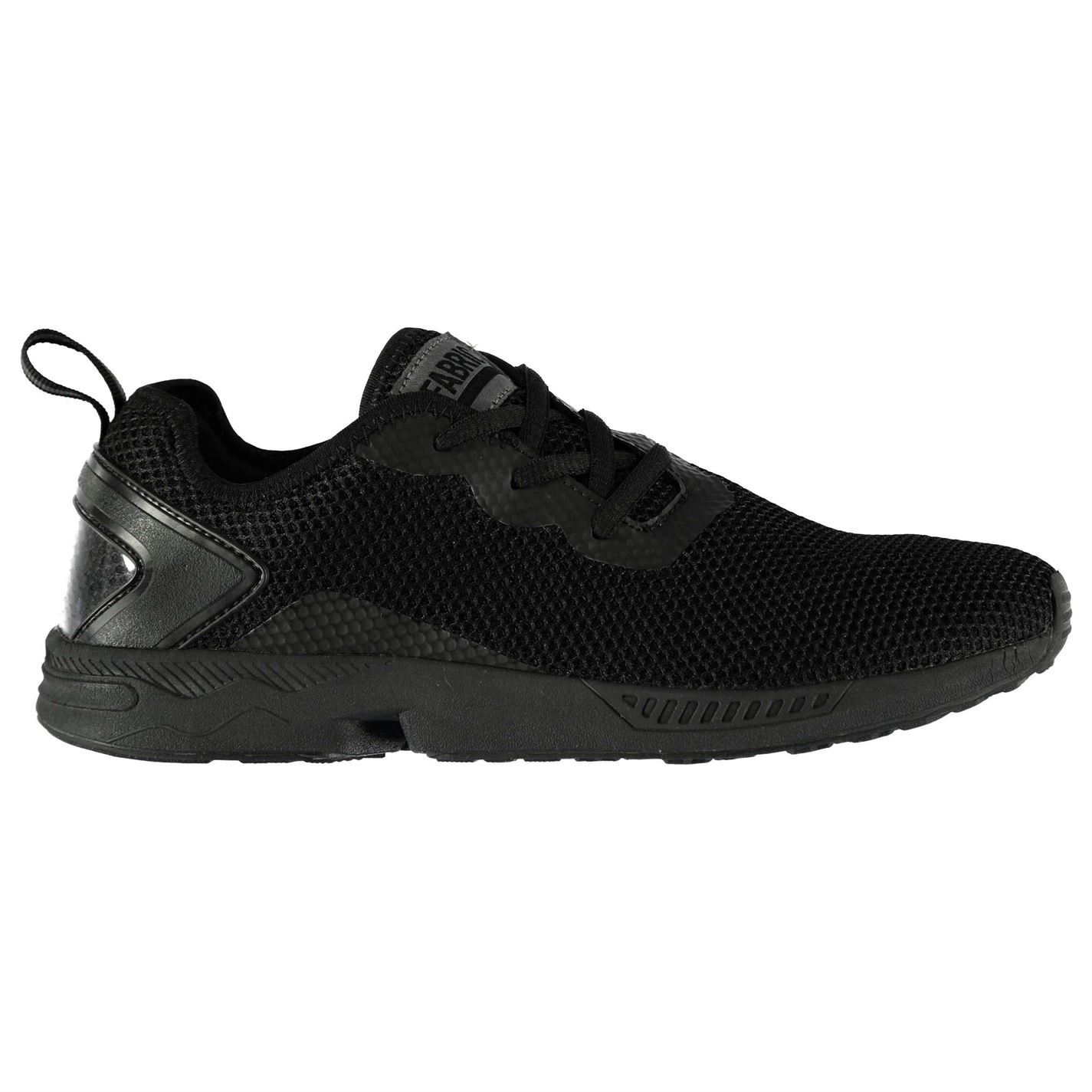 Fabric Dallim Run Trainers Mens Black Sports Shoes Sneakers