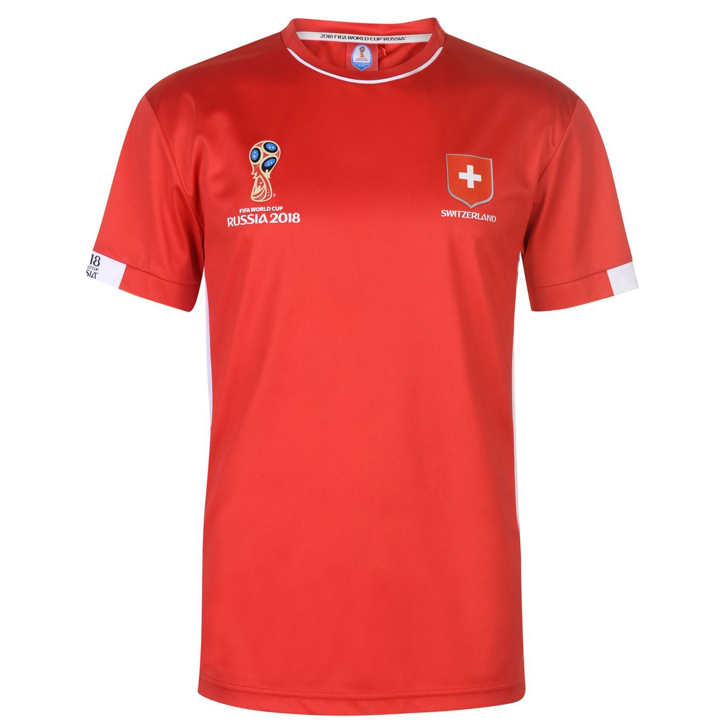 f972710d4 ... FIFA World Cup 2018 Switzerland T-Shirt Mens Red Football Soccer Top Tee  ...
