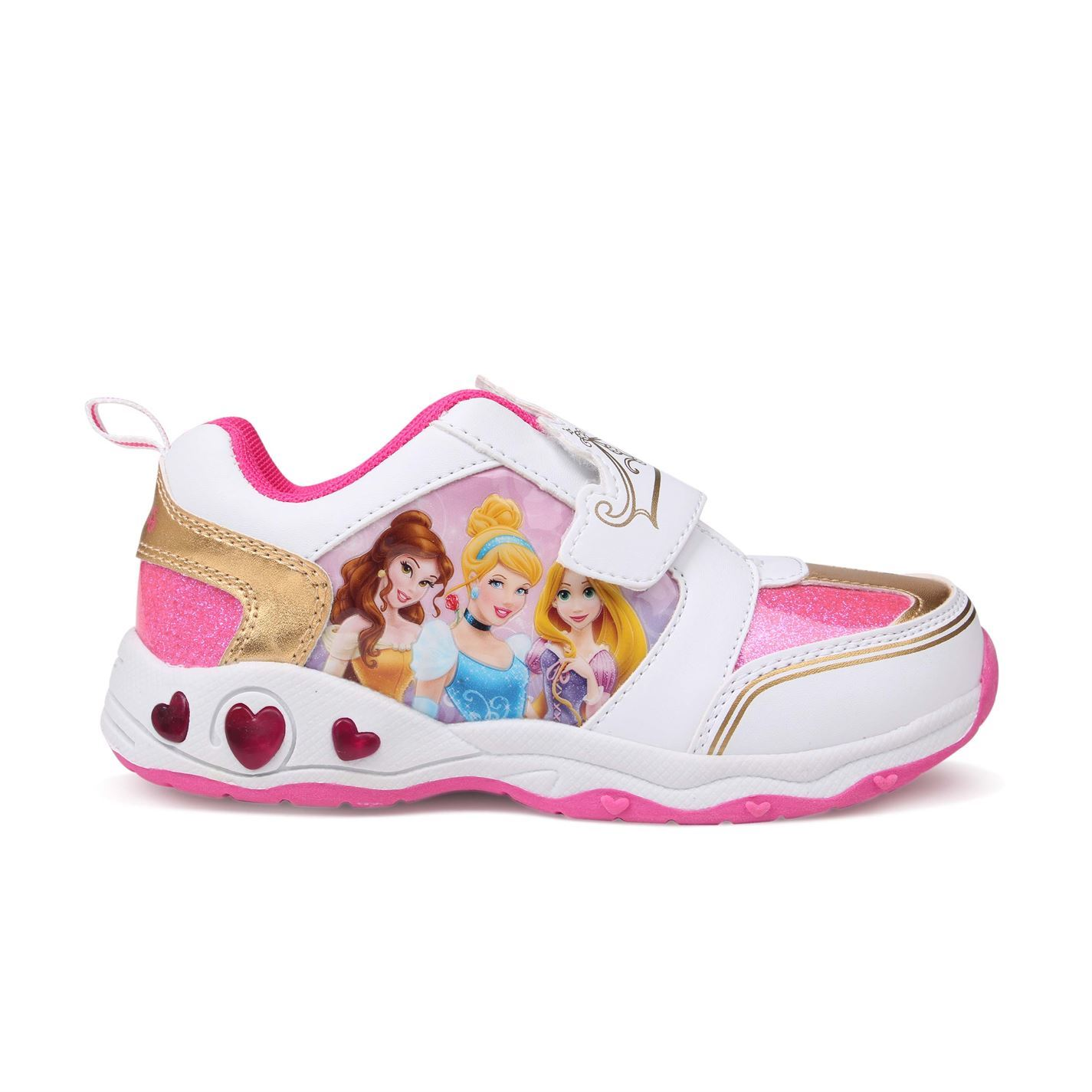 3d212da985 ... Disney Princess Light Up Trainers Infants Pink White Sneakers Shoes  Footwear ...