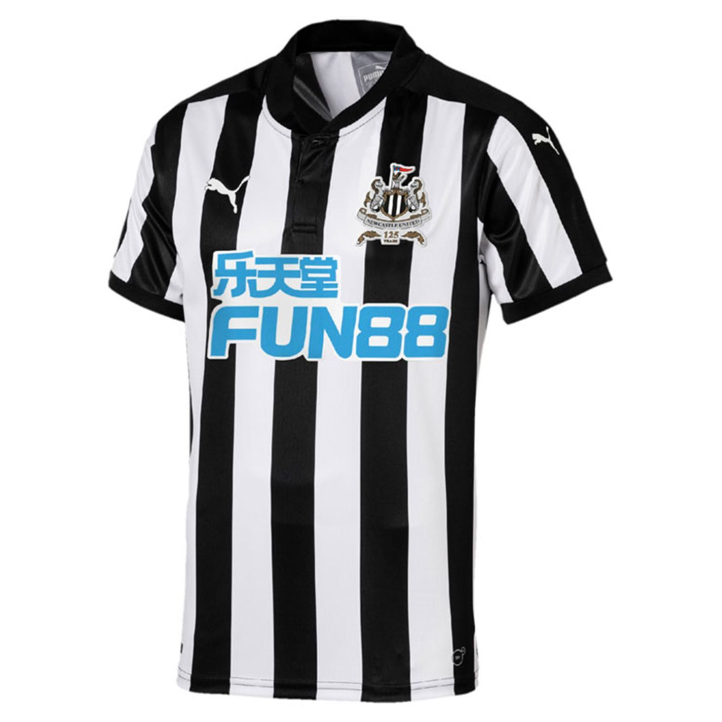 ... Puma Newcastle United Home Jersey 2017-18 Mens Black White Football  Soccer Shirt ... 143698d5b0967