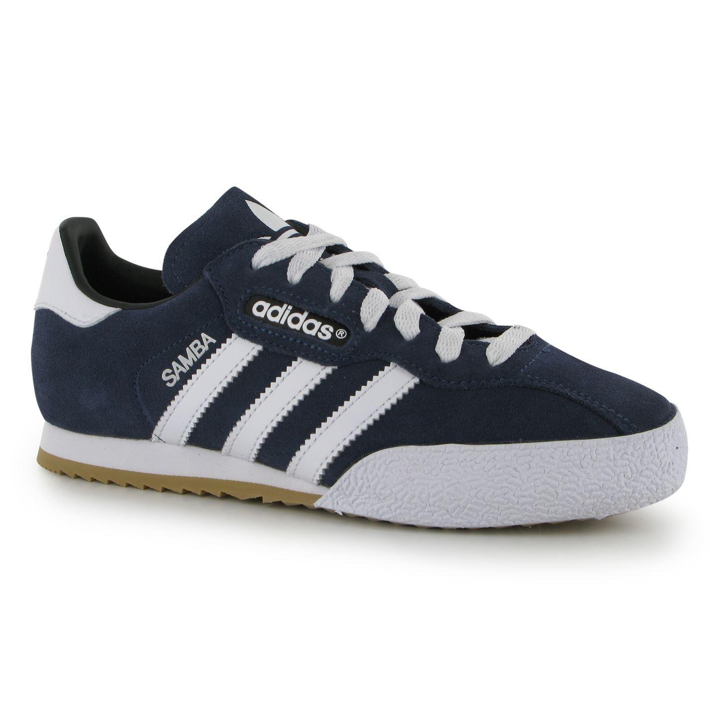 ... Adidas Samba Suede Indoor Football Futsal Trainers Juniors Blue Wht Soccer  Shoes ... 3678de1cd58