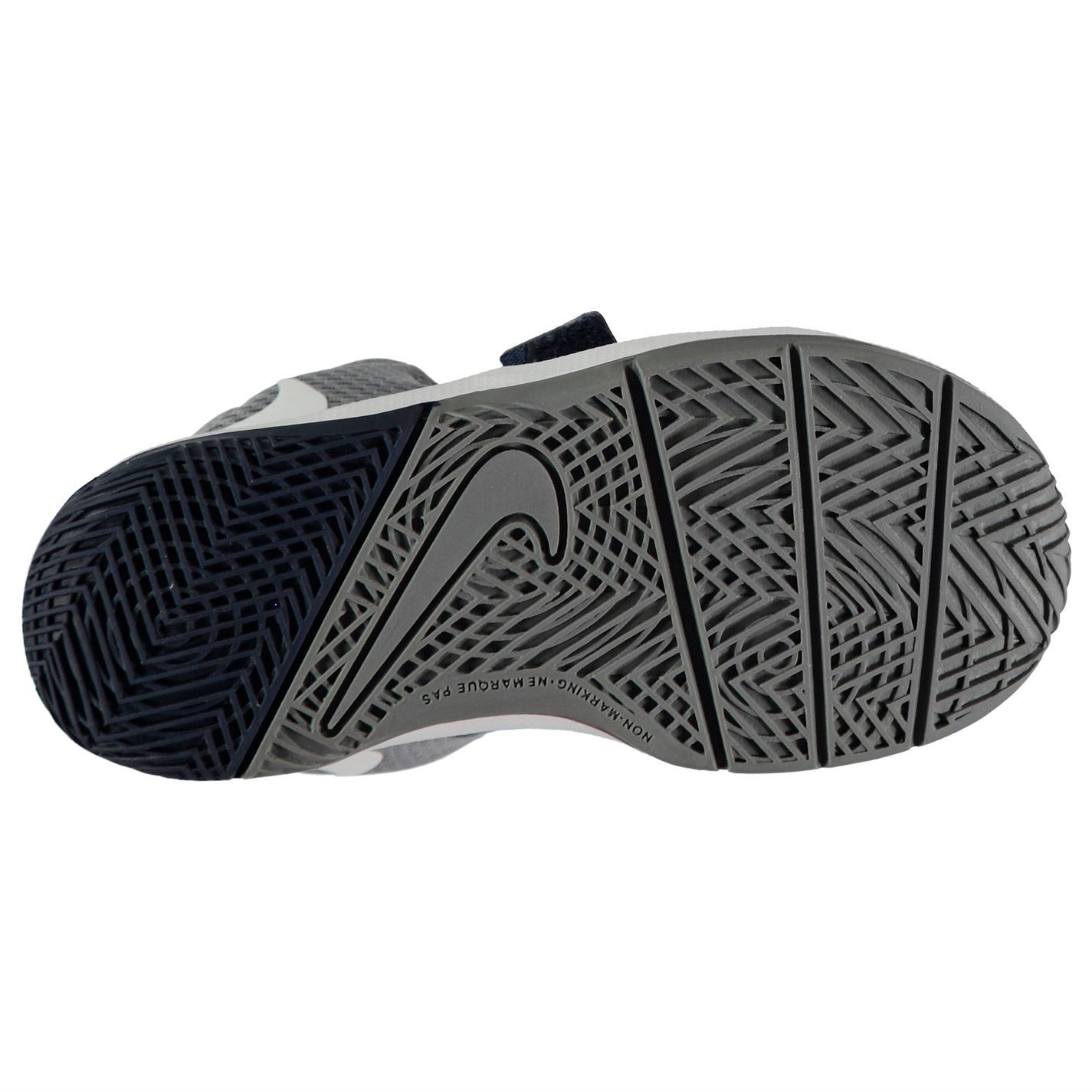 44a685569ed ... Nike Team Hustle D8 Basketball Trainers Infant Boys Navy White Shoes  Footwear