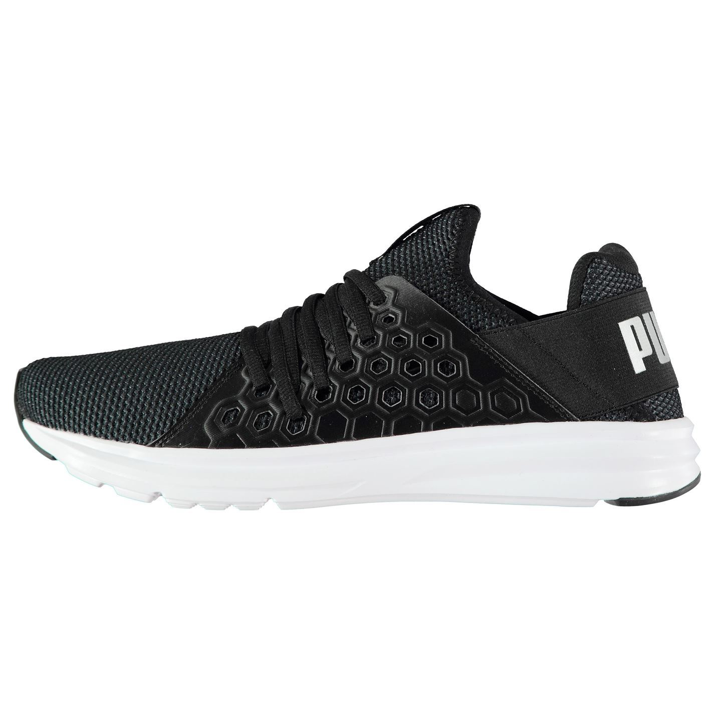 9191dc801a7e ... Puma Enzo NF Trainers Mens Black Sports Shoes Sneakers ...