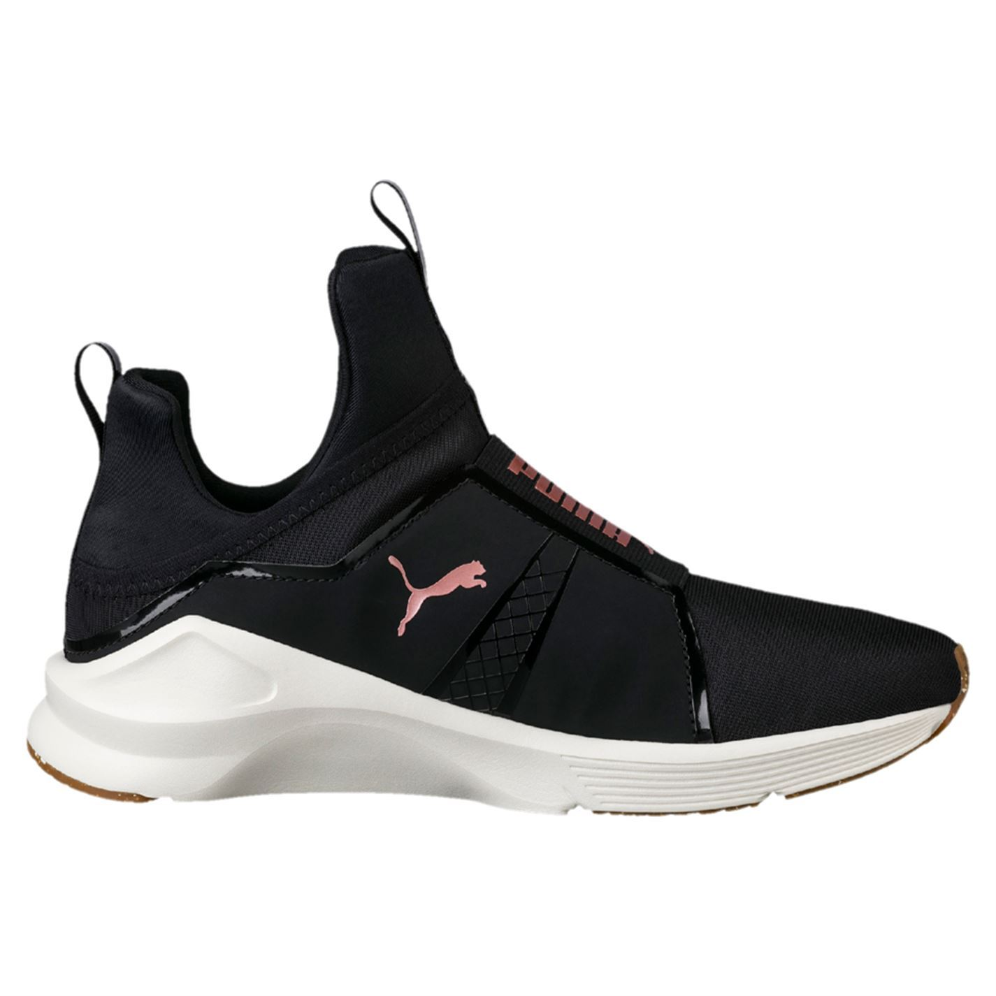 36218d915cfcfd ... Puma Fierce Velvet Rope Fitness Training Shoes Womens Black Trainers  Sneakers ...
