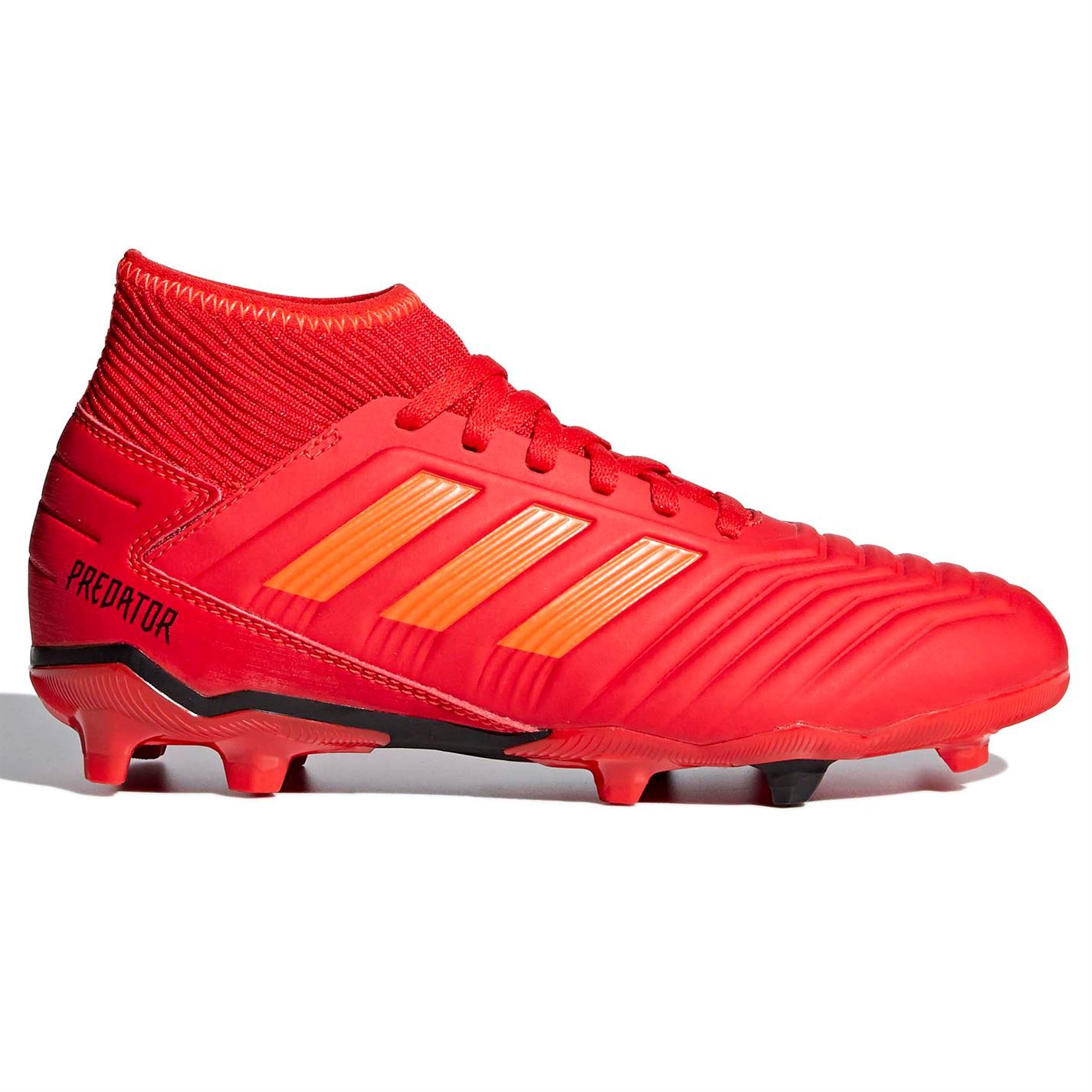 5c084a16ea3 ... adidas Predator 19.3 FG Firm Ground Football Boots Childs Red Soccer  Cleats ...