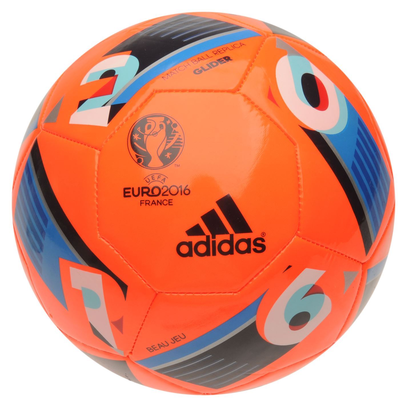 adidas uefa euro 2016 glider football solar orange soccer. Black Bedroom Furniture Sets. Home Design Ideas