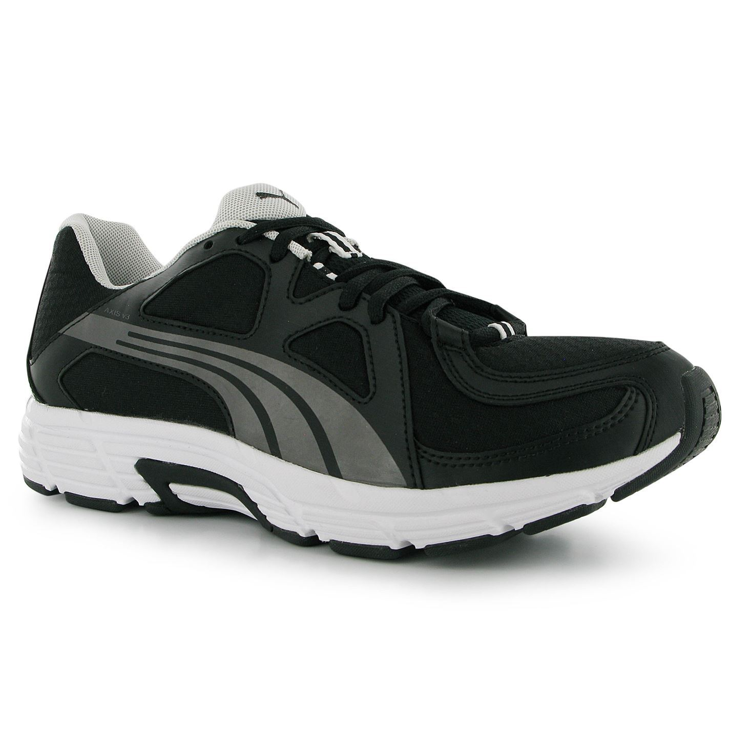 check out d8836 69f4a ... Puma Axis v3 Mens Running chaussures formateurs Black Silver Sneakers  chaussures de sport ...