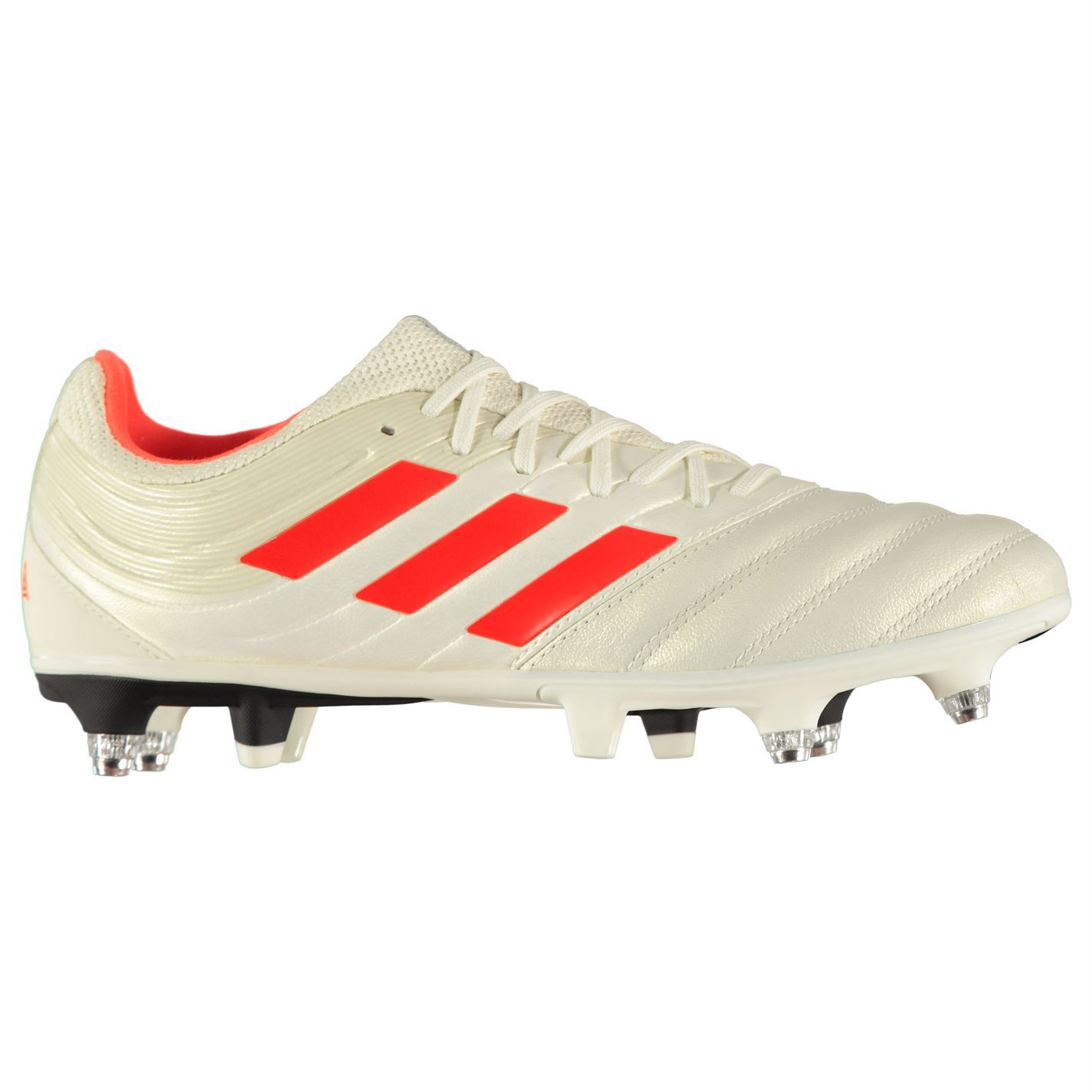 cc90b256bb Details about adidas Copa 19.3 SG Soft Ground Football Boots Mens White/Red  Soccer Shoe Cleats