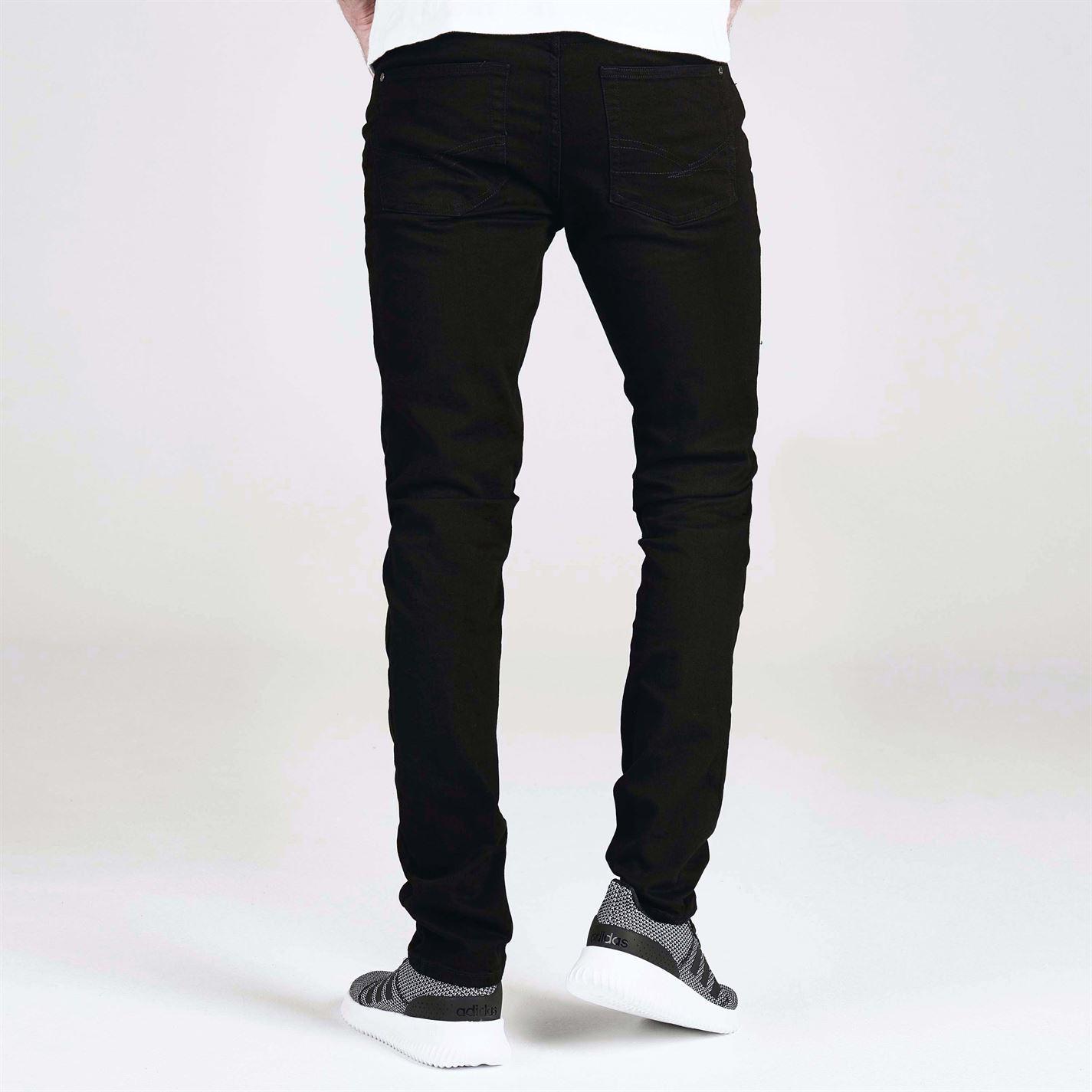 Jeans-Denim-Firetrap-Skinny-Mens-Trouser-Black thumbnail 12
