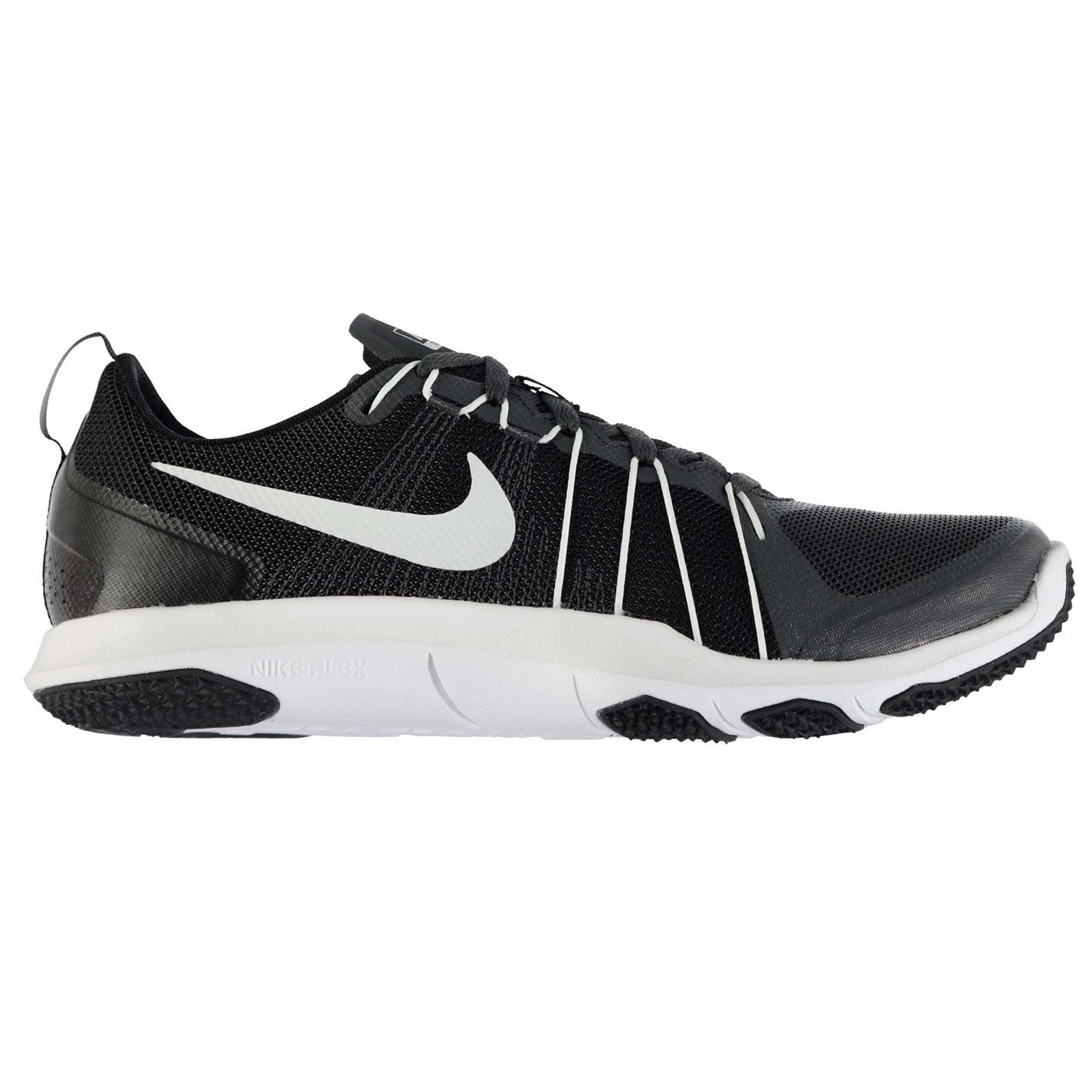 ... Nike Flex Train Aver Trainers Mens Anthracite/Wht Sports Shoes Sneakers  Footwear ...