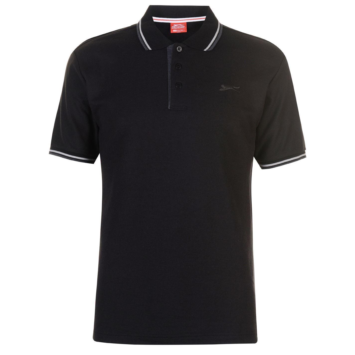 Slazenger-Polo-Camisa-de-hombre-con-cuello-con-Punta-T-Shirt-Top-Camiseta-Tee miniatura 2