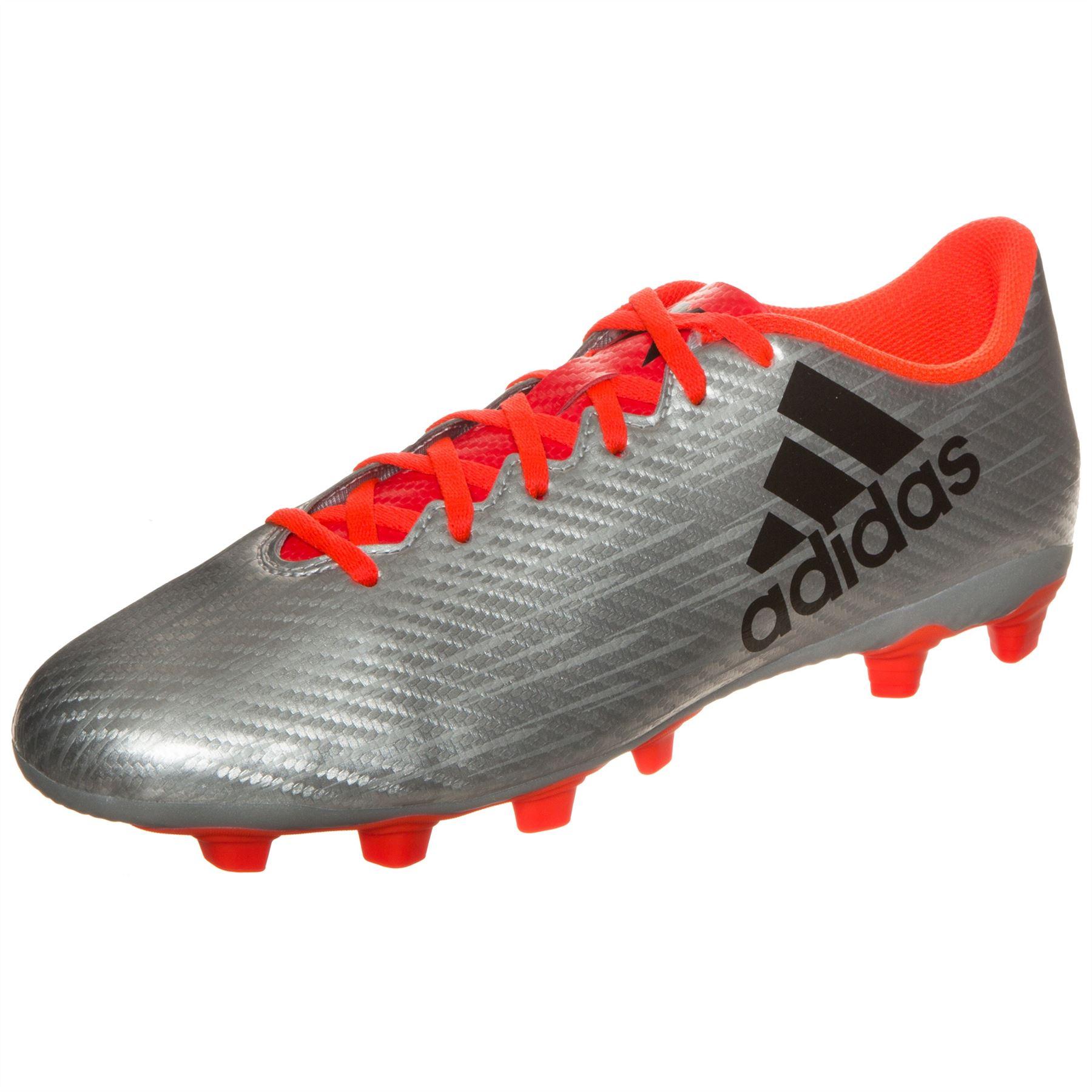 adidas x fxg scarpe da calcio terra ferma mens silver / red calcio