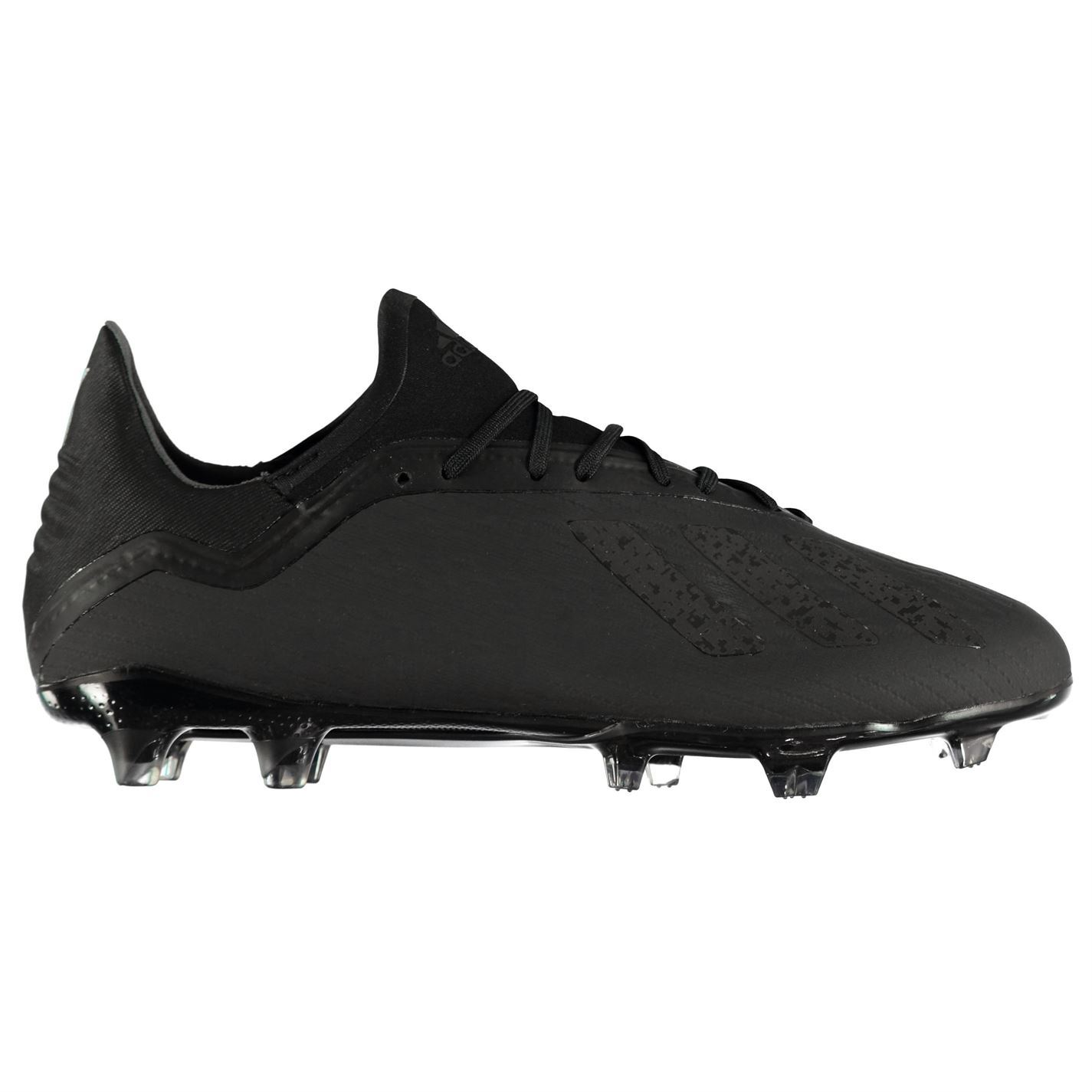 ... adidas X 18.2 FG Firm Ground Football Boots Mens Black Soccer Shoes  Cleats ... a4e256727