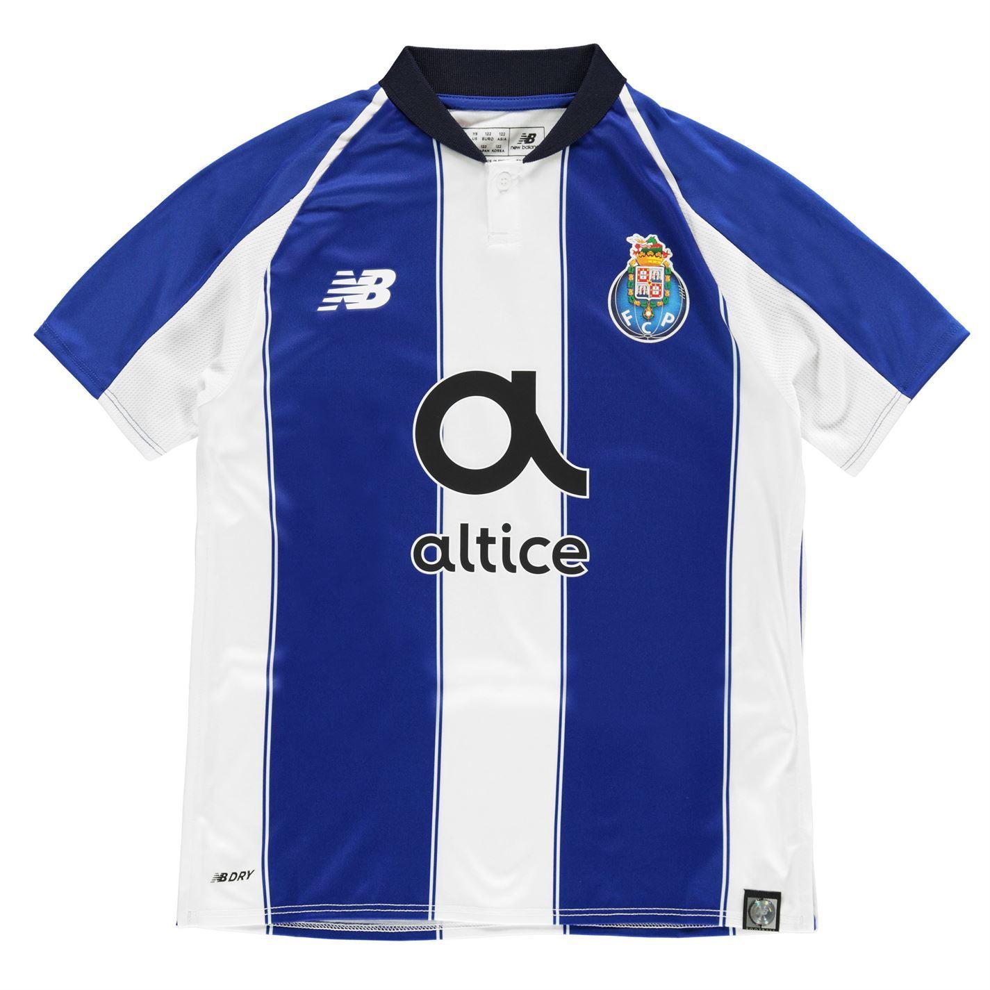d757c5d65ca ... New Balance Porto Home Jersey 2018 2019 Juniors Blue Football Soccer  Shirt Top ...