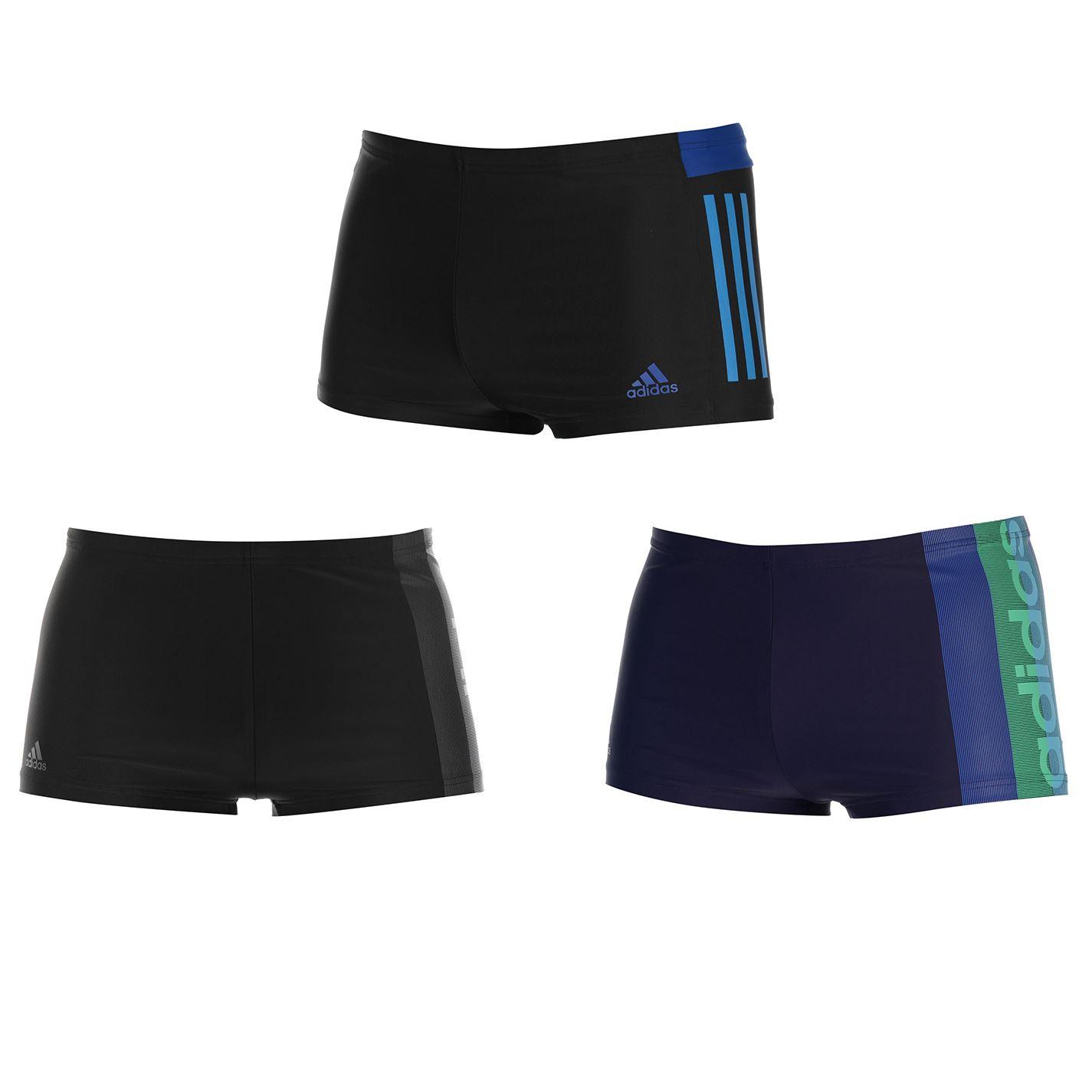Détails sur Adidas Lignée Graphique Natation Boxer Hommes Slips Bas Maillot de Bain Xs Noir