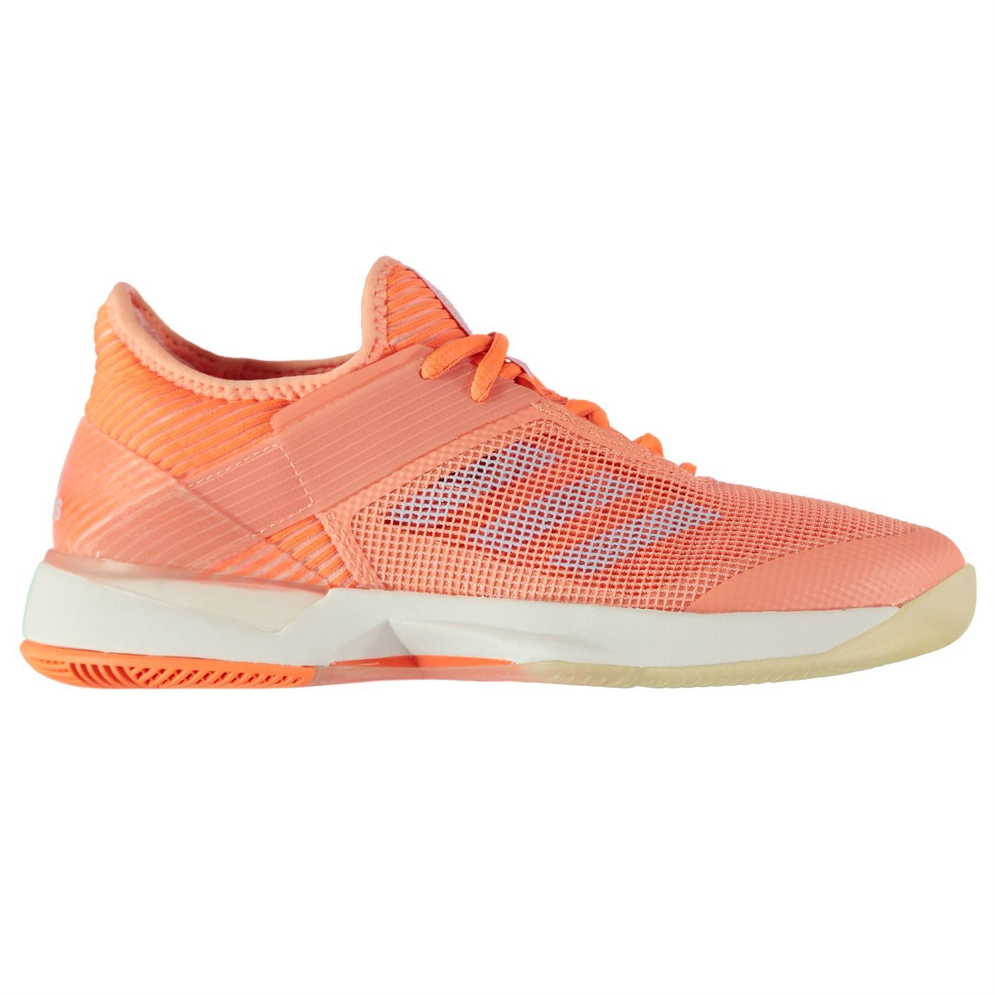 new product 2181c 276dd ... adidas Adizero Ubersonic 3 Tennis Shoes Womens Peach Court Trainers  Sneakers ...