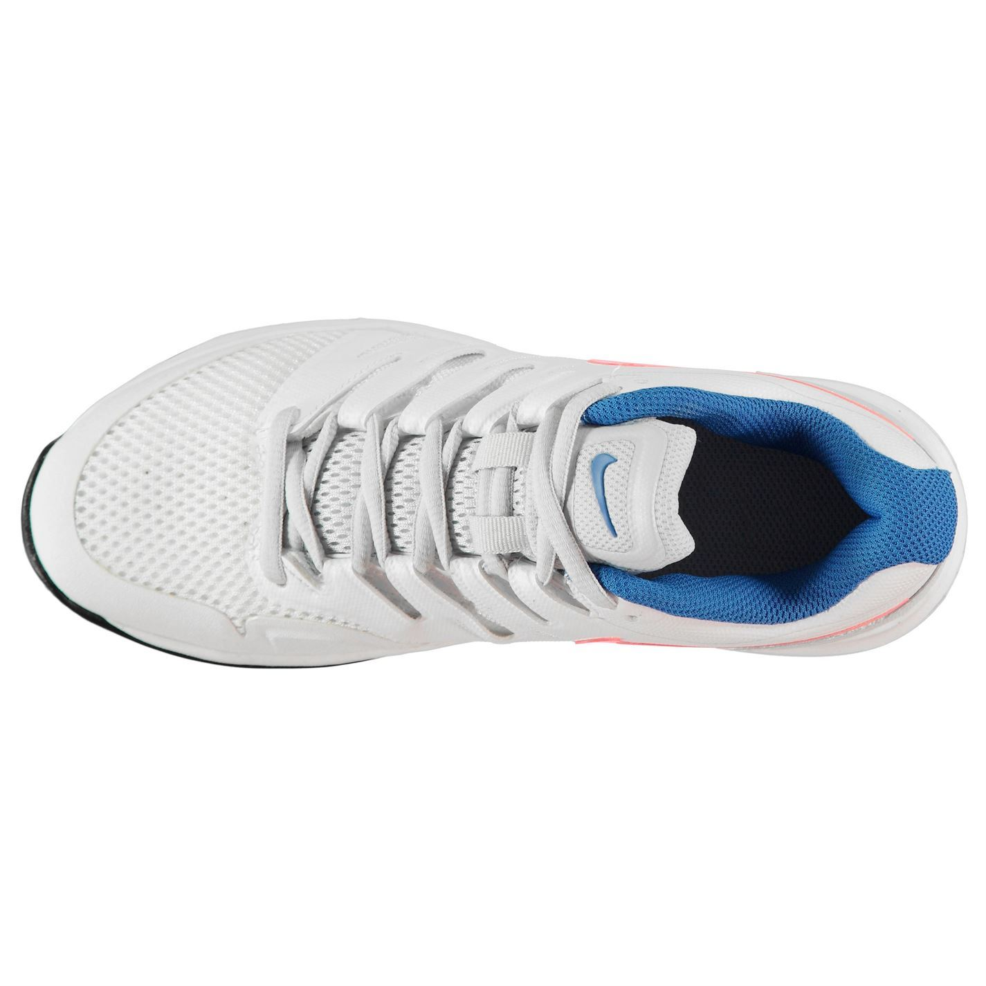 online store f12b0 132cf ... Nike Air Zoom Prestige Tennis Shoes Womens WhiteLava Court Trainers  Sneakers