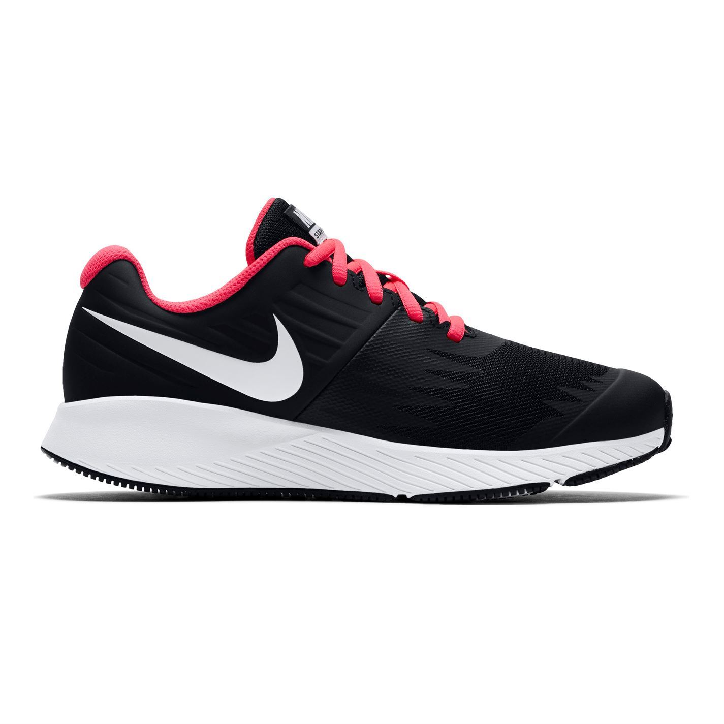 piuttosto bella autentico 2019 autentico Nike Star Runner Infants Trainers Girls Black/White/Pink Shoes ...