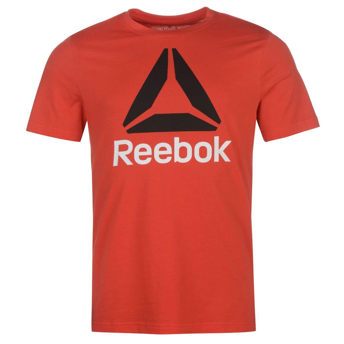 Reebok-Stack-Delta-Logo-T-Shirt-Mens-Tee-Shirt-Top thumbnail 23