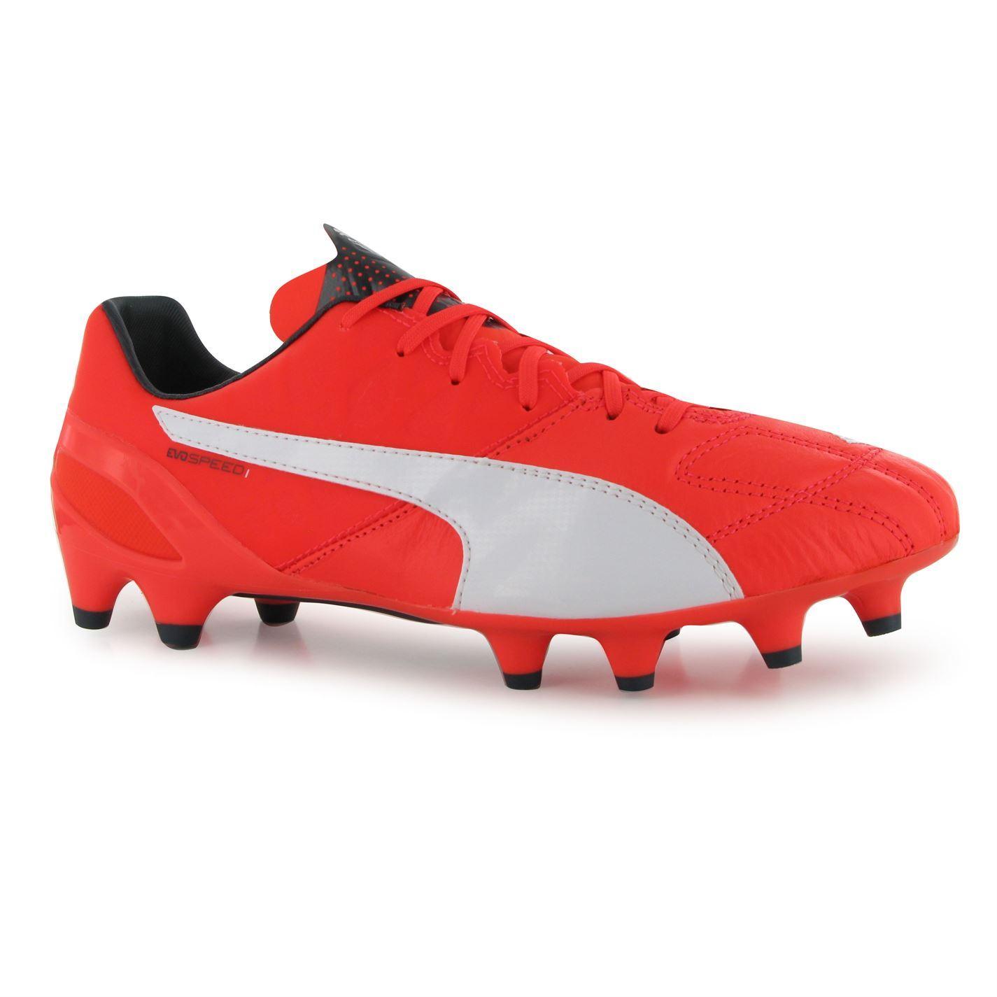 ... Puma evoSpeed 1 Leather FG Firm Ground Football Boots Mens Lava Soccer  Cleats ... fe32e72ce
