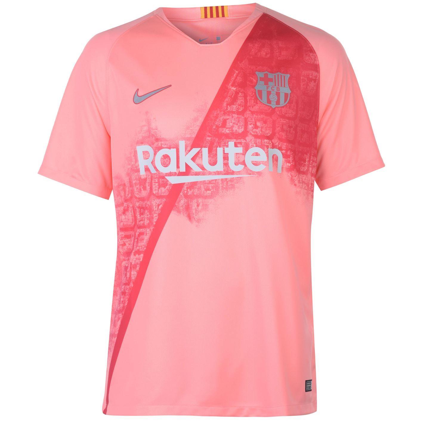 sale retailer d212d 0473d Nike Barcelona Third Jersey 2018 2019 Mens Pink/Silver ...