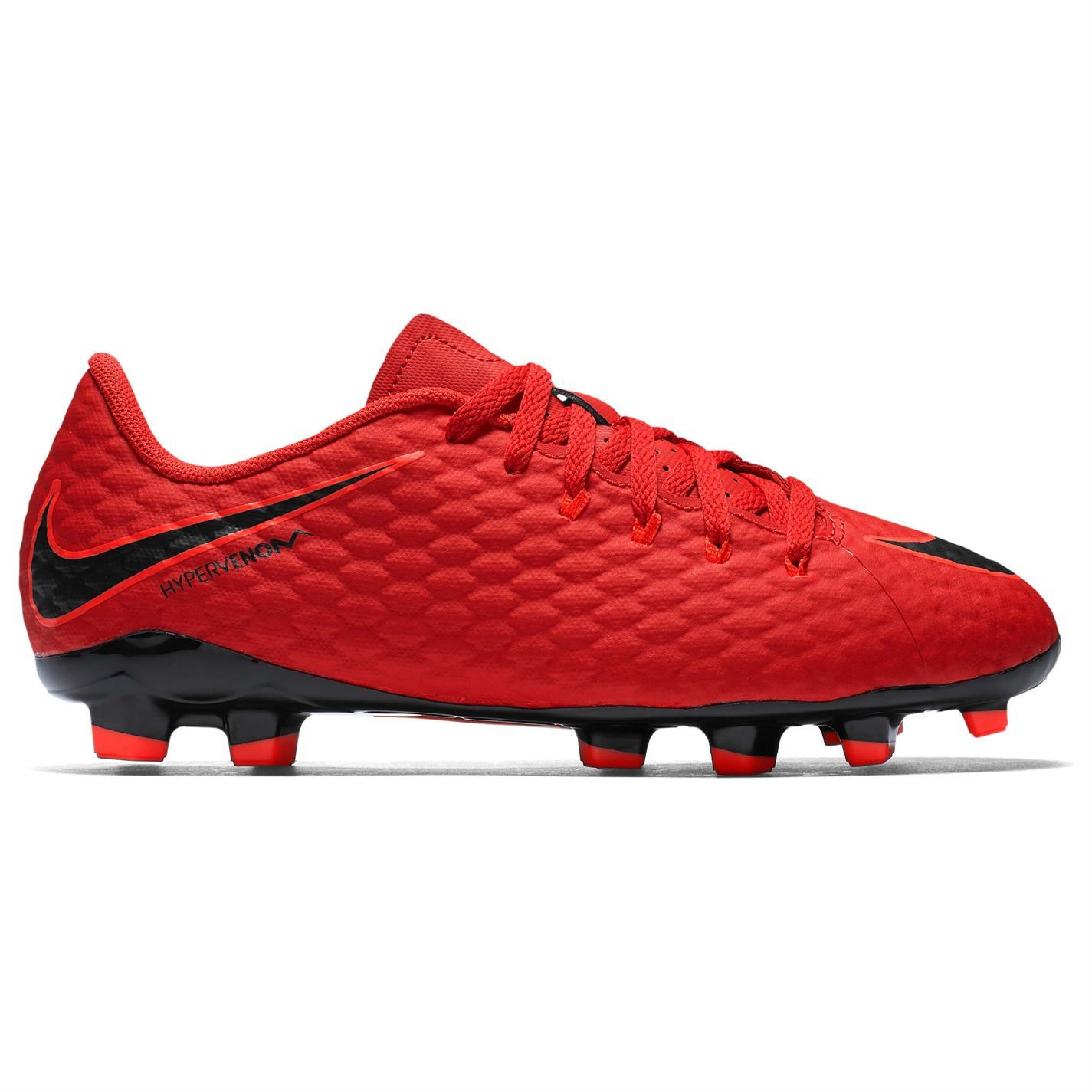 c99140ca017c ... Nike Hypervenom Phelon FG Firm Ground Football Boots Childs Red Soccer  Cleats ...