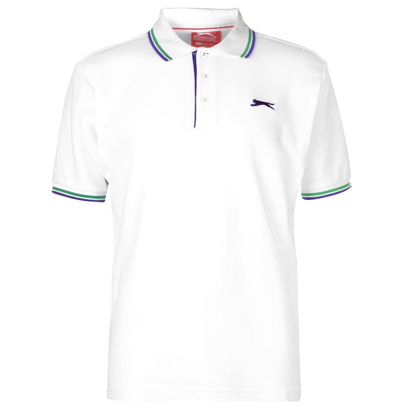 Slazenger-Polo-Camisa-de-hombre-con-cuello-con-Punta-T-Shirt-Top-Camiseta-Tee miniatura 91