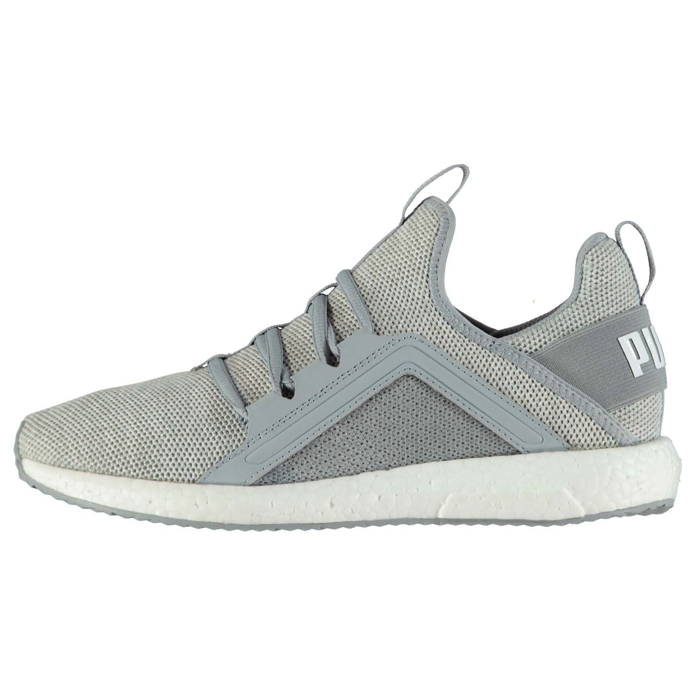 cd6f74578c87 ... Puma Mega NRGY Knit Running Shoes Womens Grey Run Jogging Trainers  Sneakers ...