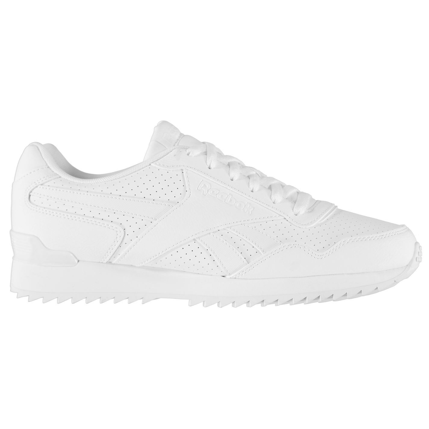 ... Reebok Royal Glide Ripple Clip Trainers Mens White Sports Shoes Sneakers  ... 945aad9c3