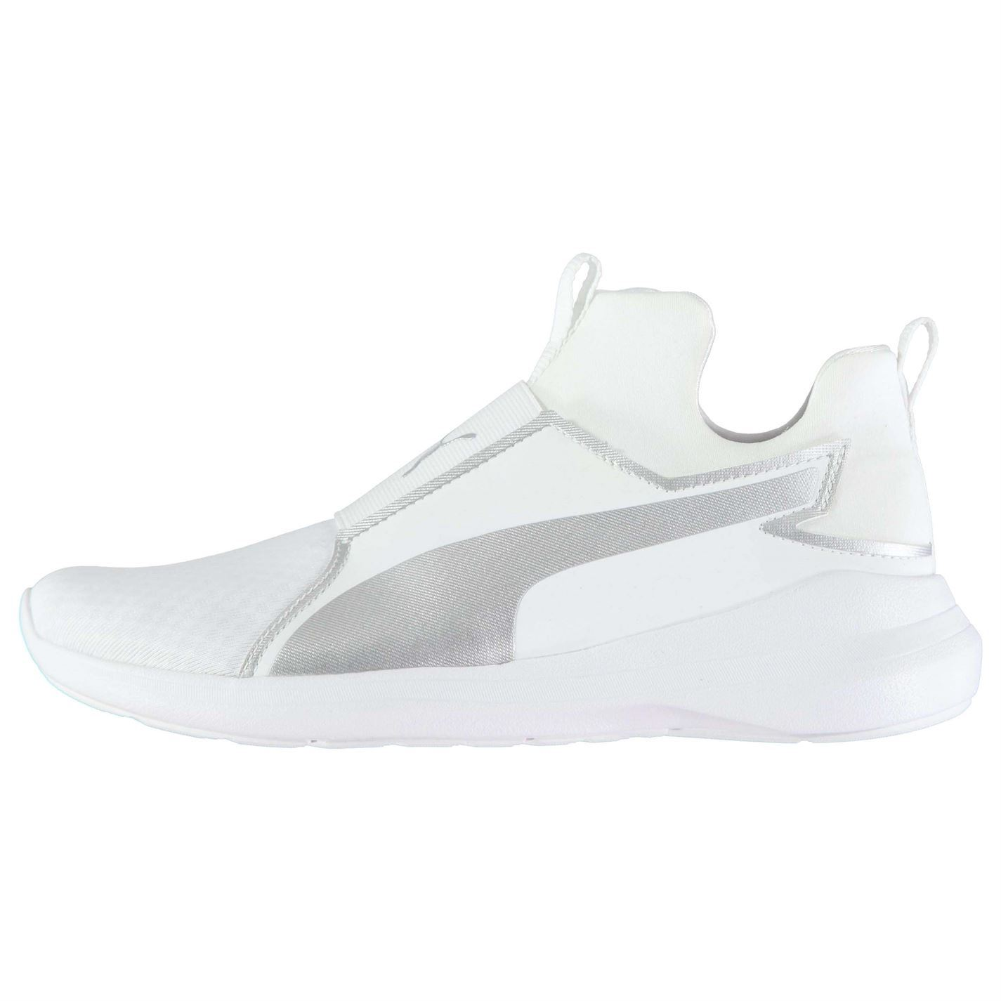 ... Puma Rebel Mid Fitness Training Shoes Womens White Gym Workout Trainers  Sneakers ... 72e1a14d0