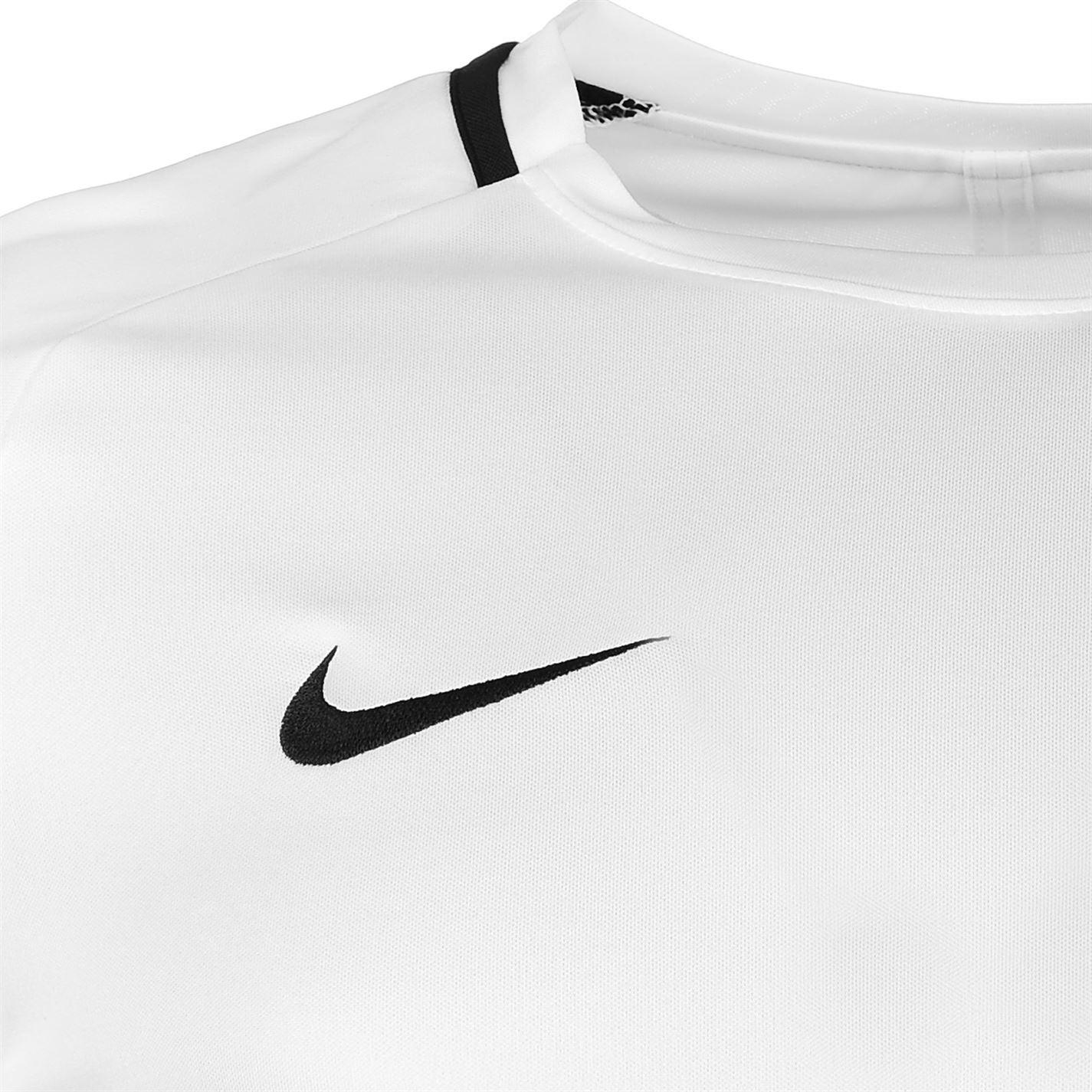 dd287efe7 ... Nike Academy Training T-Shirt Mens White Black Football Soccer Top Tee  Shirt