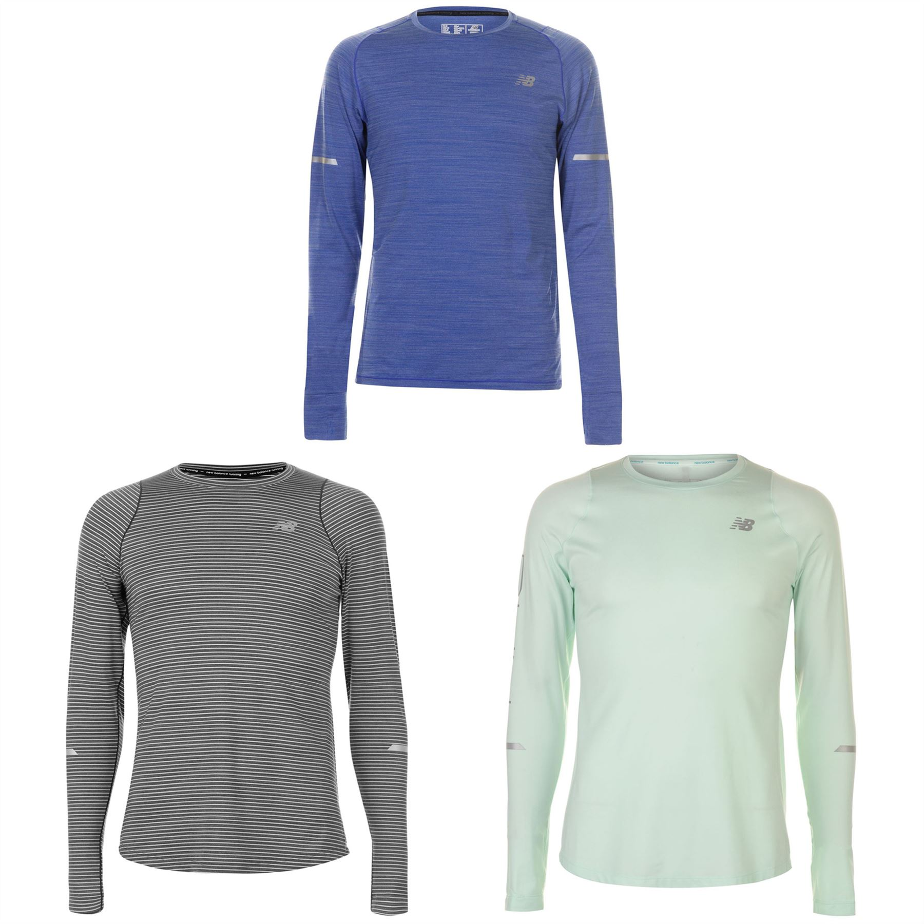 f1e1065d26 Details about New Balance Seasonless Long Sleeve Running Top Mens Jogging  Fitness T-Shirt Tee